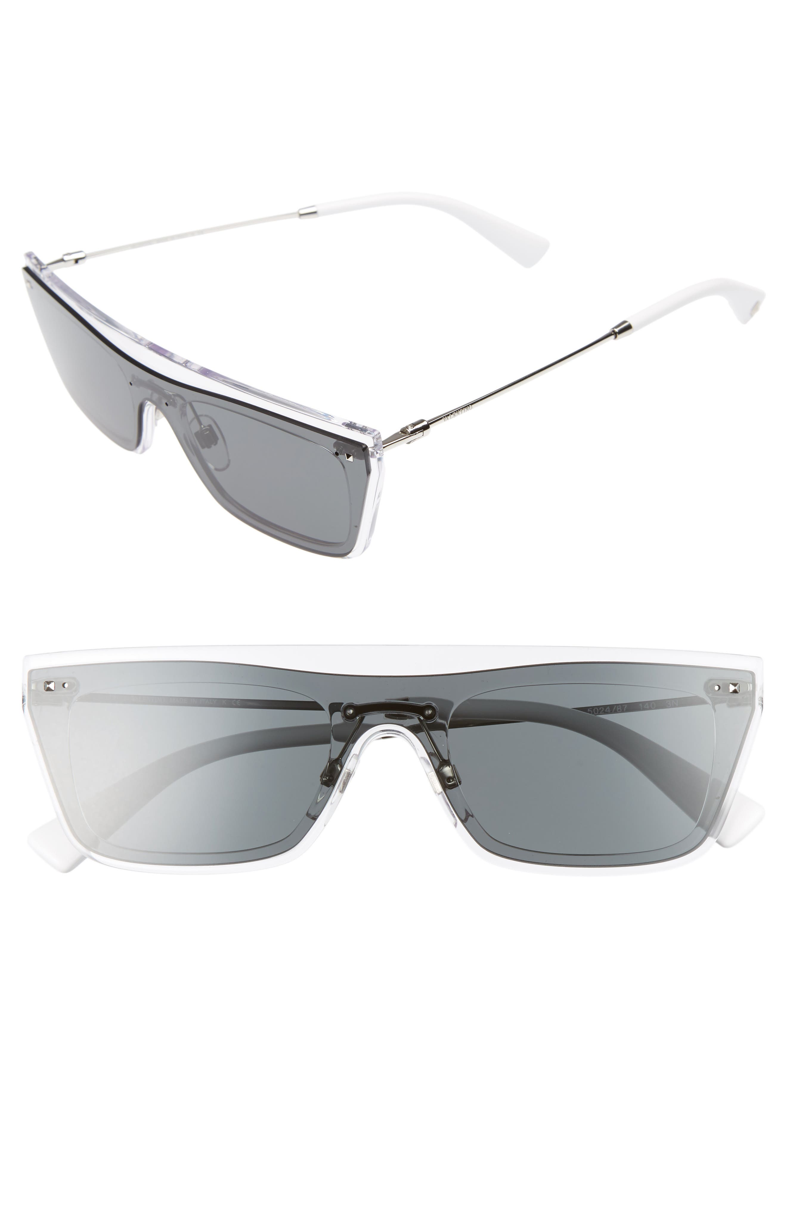Valentino Rockstud 50mm Rectangular Sunglasses