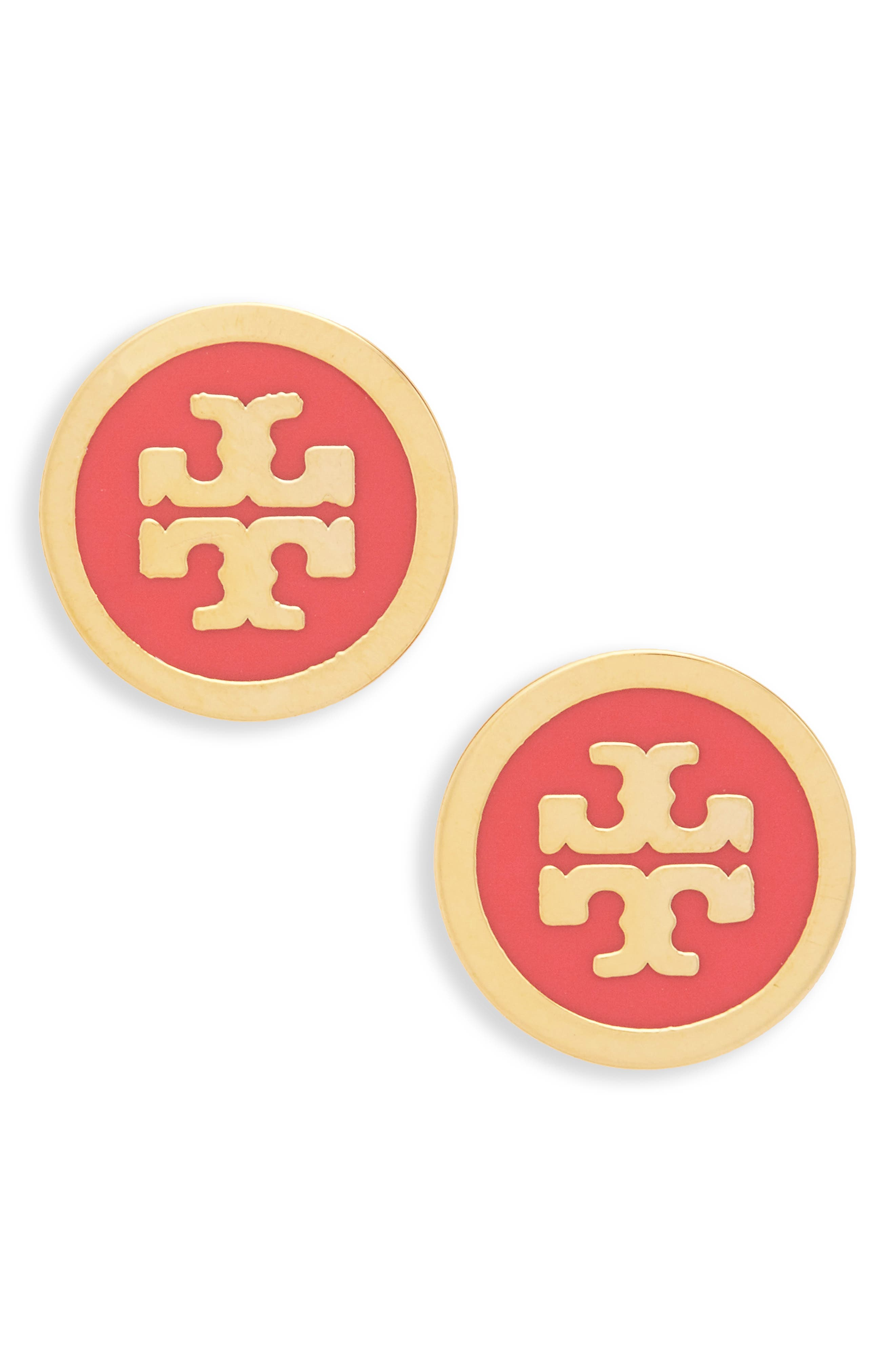 Main Image - Tory Burch Logo Stud Earrings