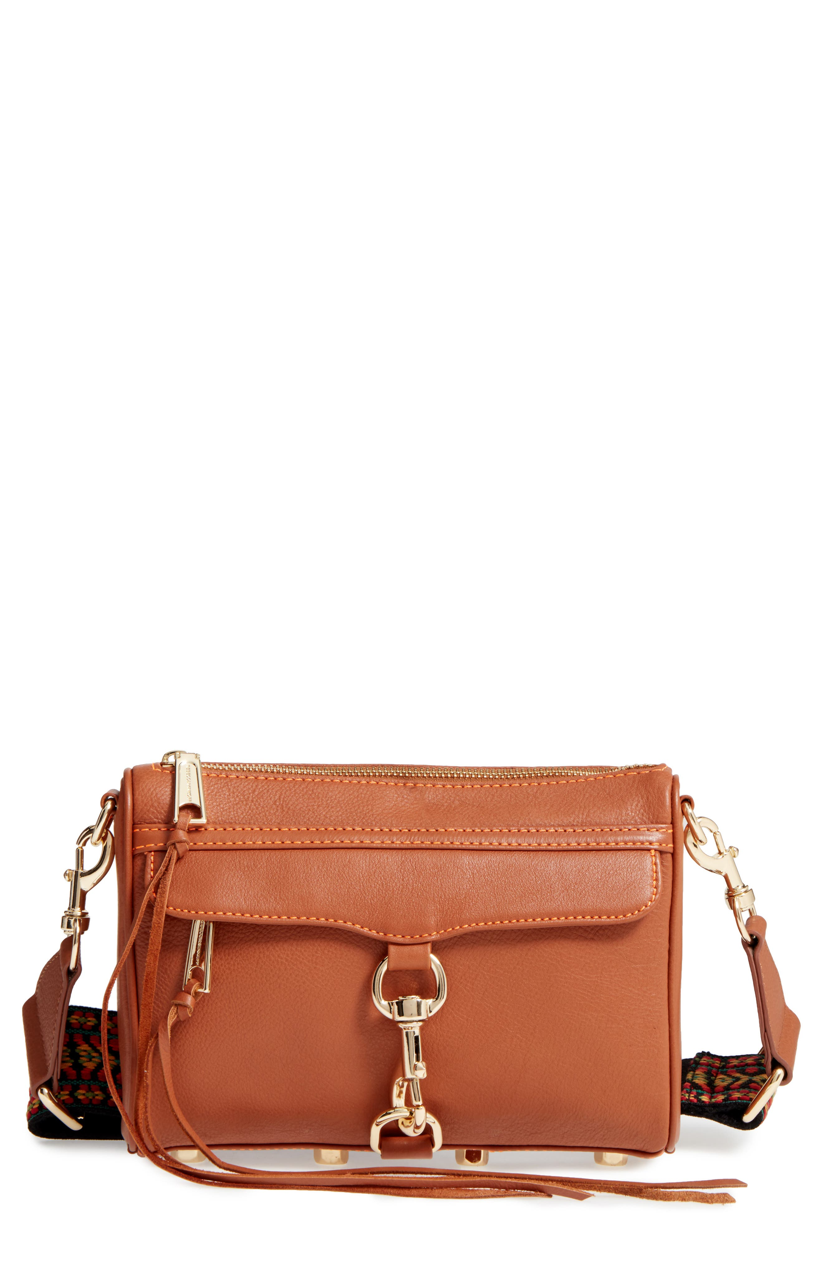 Rebecca Minkoff Mini MAC Leather Crossbody Bag with Guitar Strap (Nordstrom Exclusive)