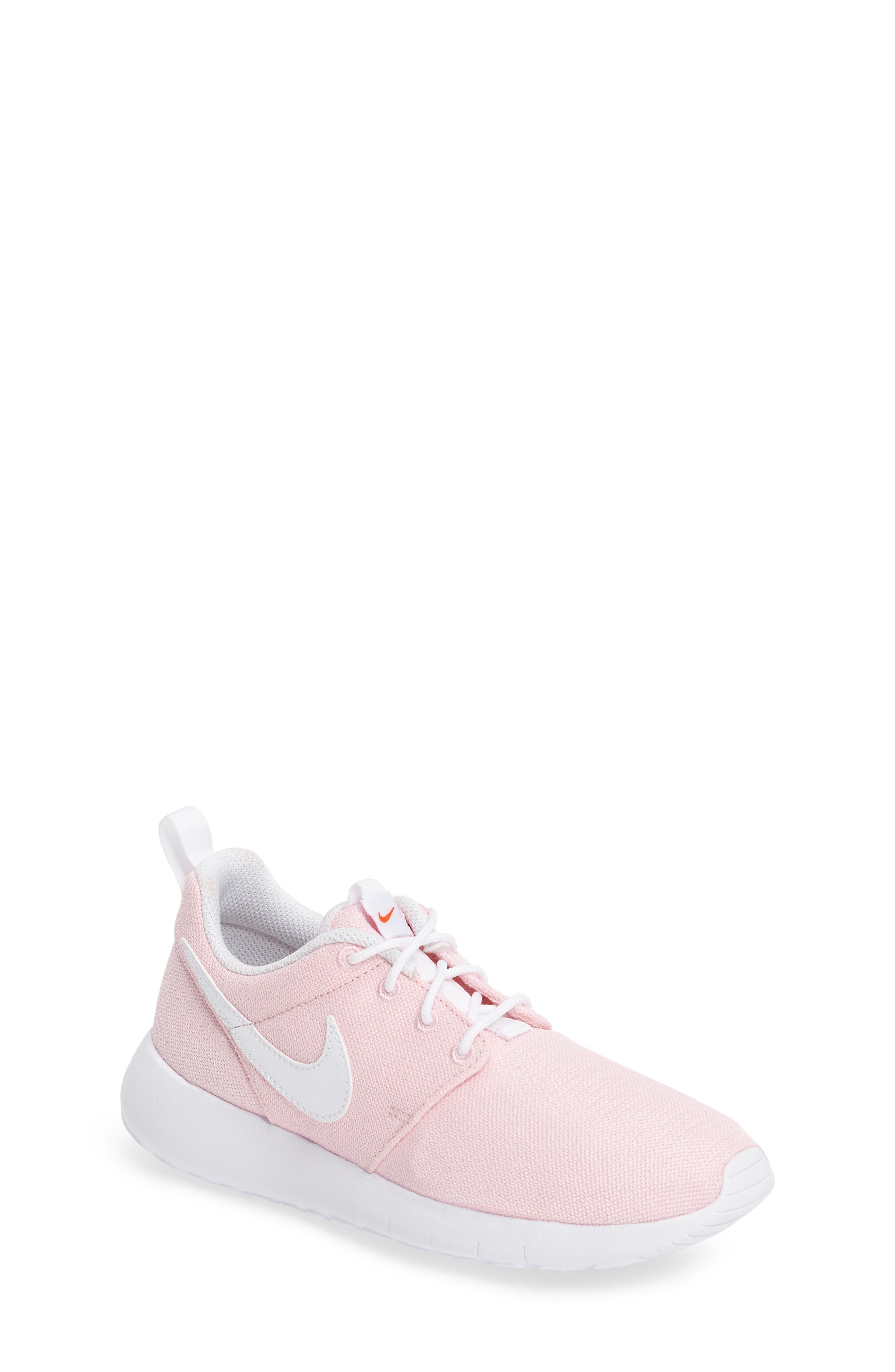 Alternate Image 1 Selected - Nike 'Roshe Run' Athletic Shoe (Little Kid & Big Kid)