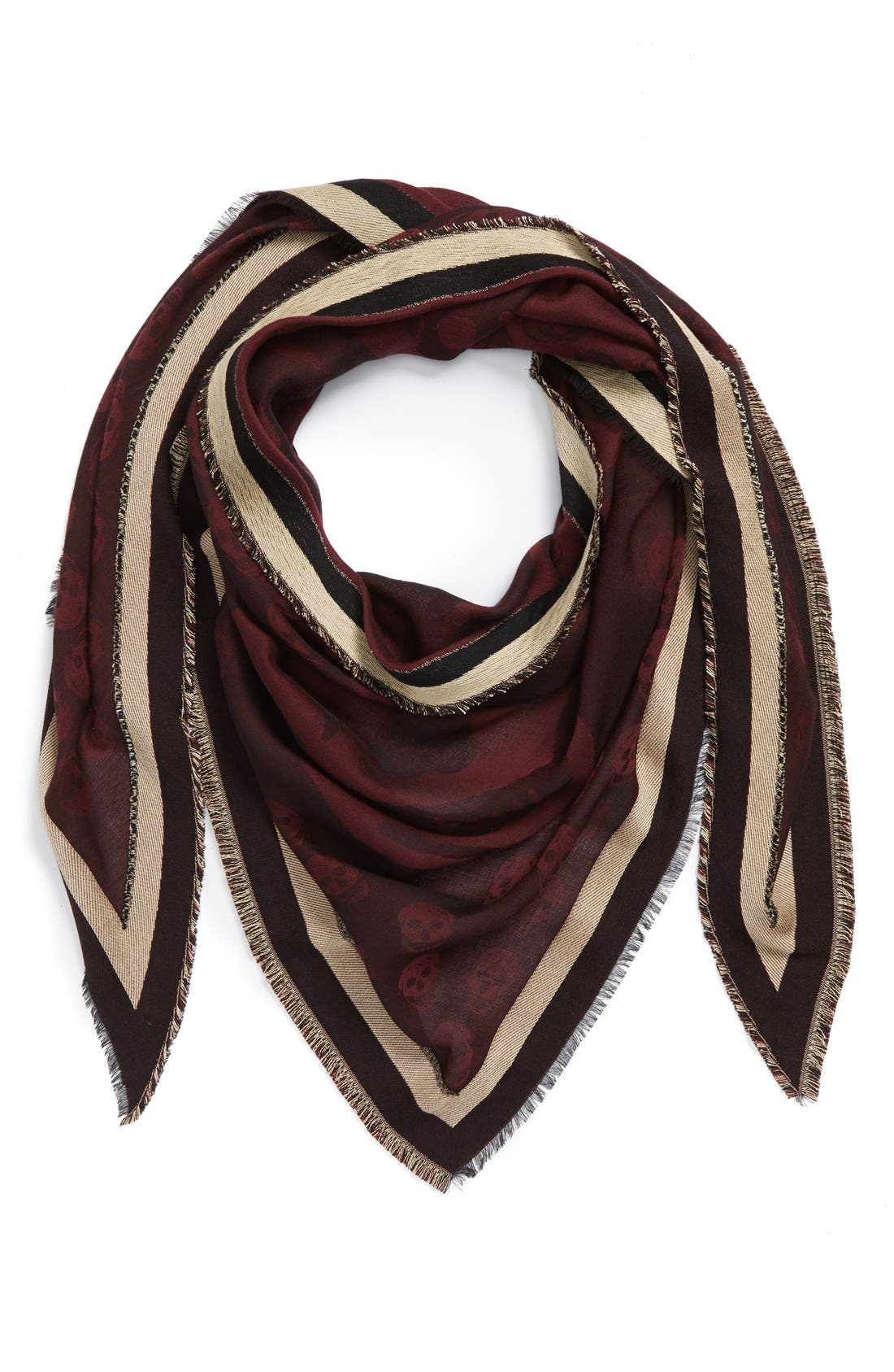 Alternate Image 1 Selected - Alexander McQueen Skull Print Triangle Scarf