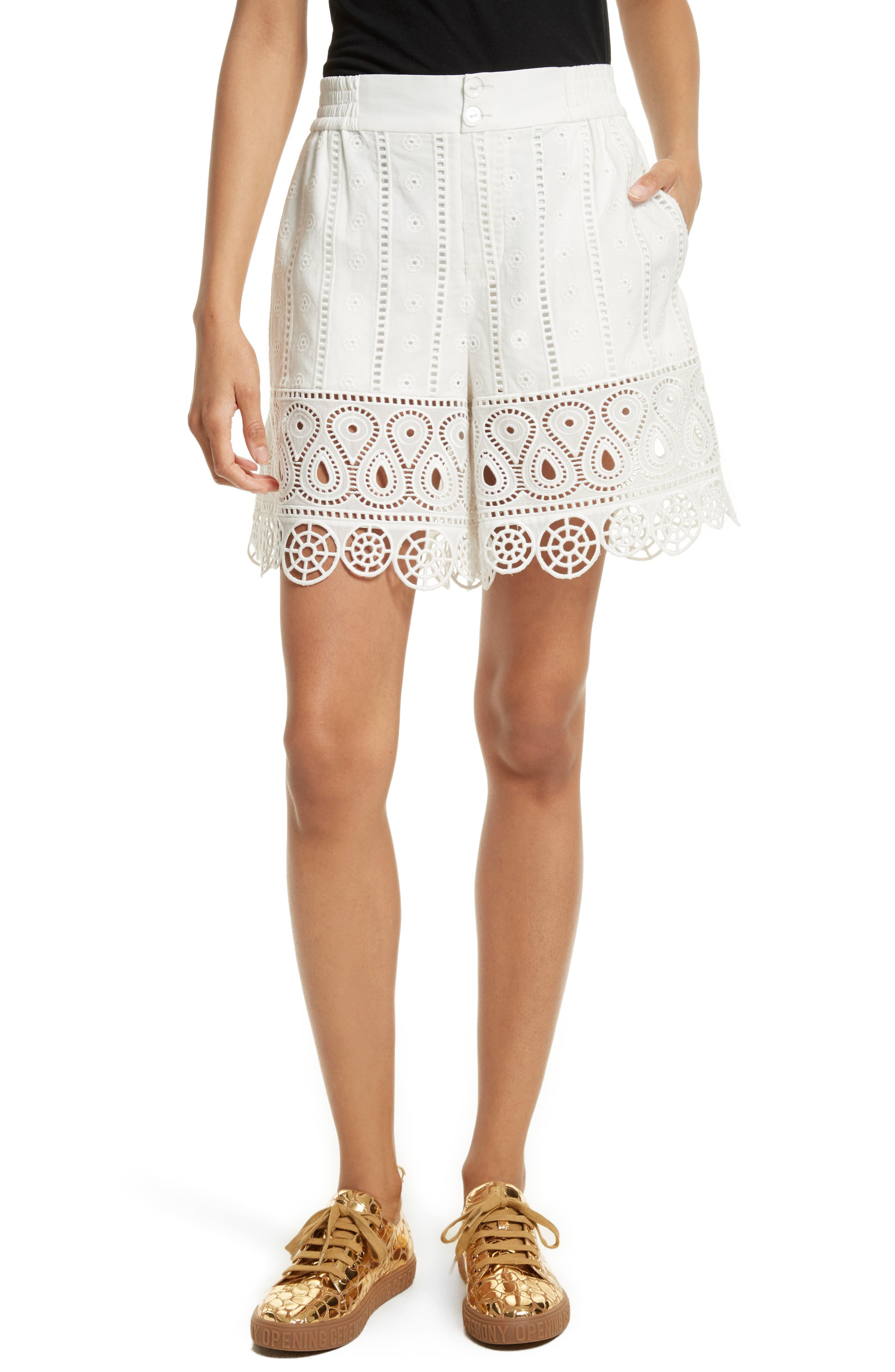 Opening Ceremony Broderie Anglaise Shorts