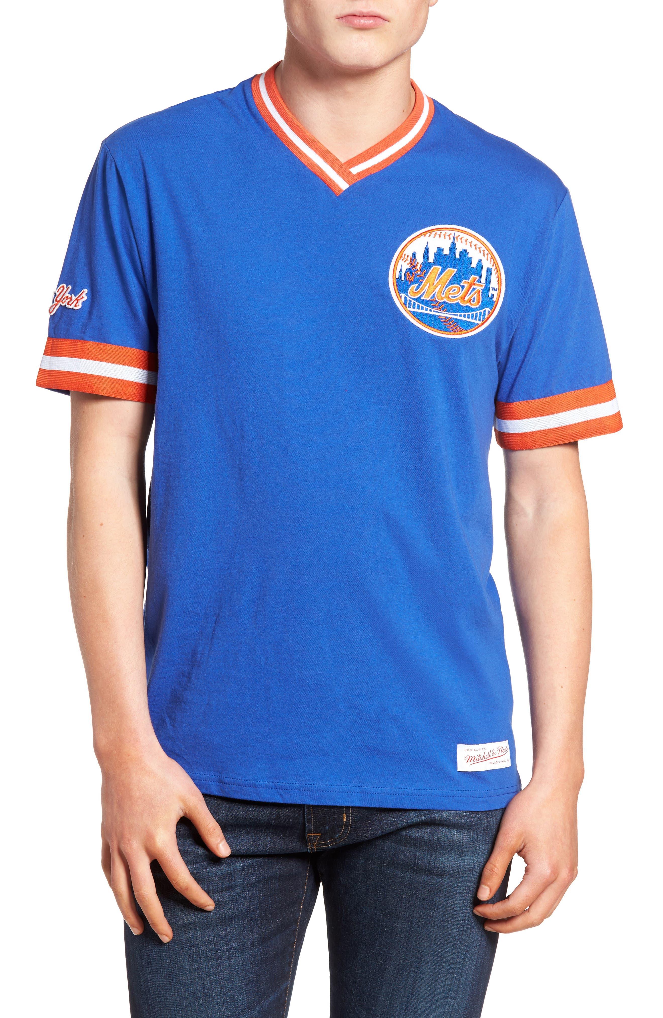 Mitchell & Ness New York Mets - Vintage V-Neck T-Shirt