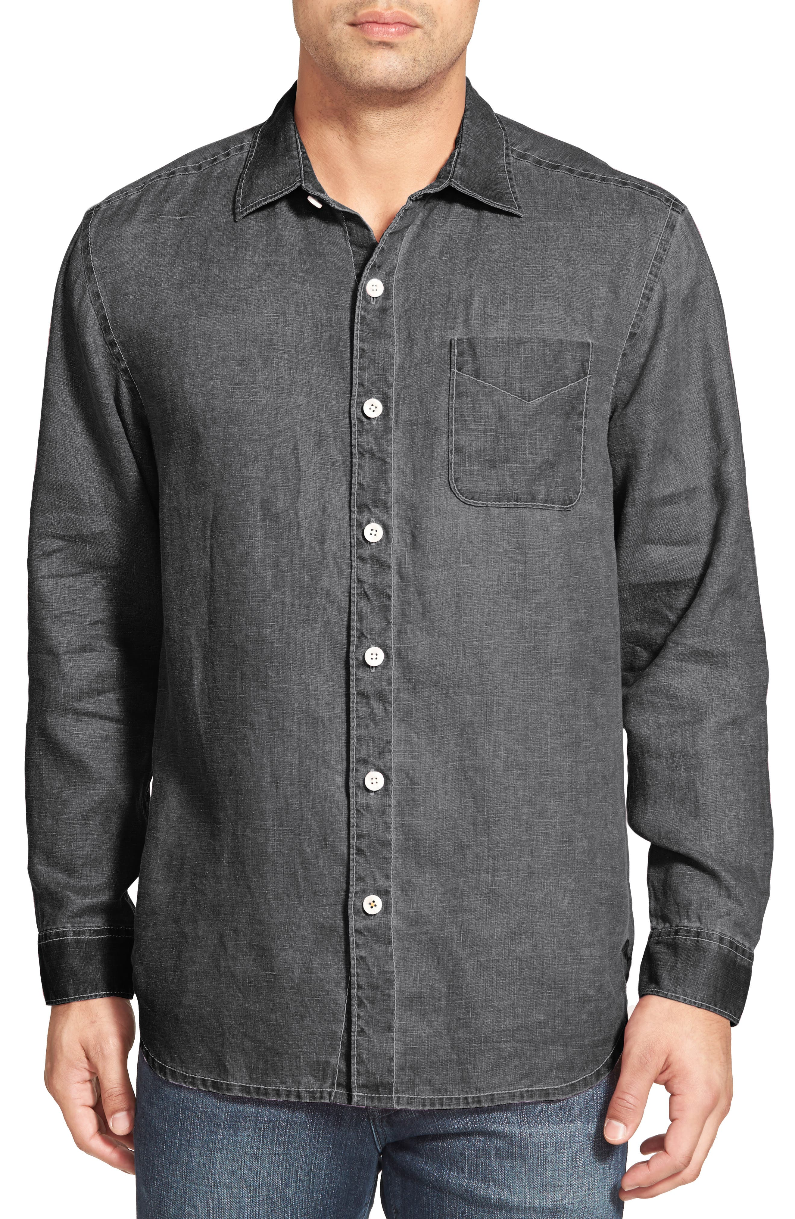 Tommy Bahama 'Sea Glass Breezer' Linen Sport Shirt (Big & Tall)