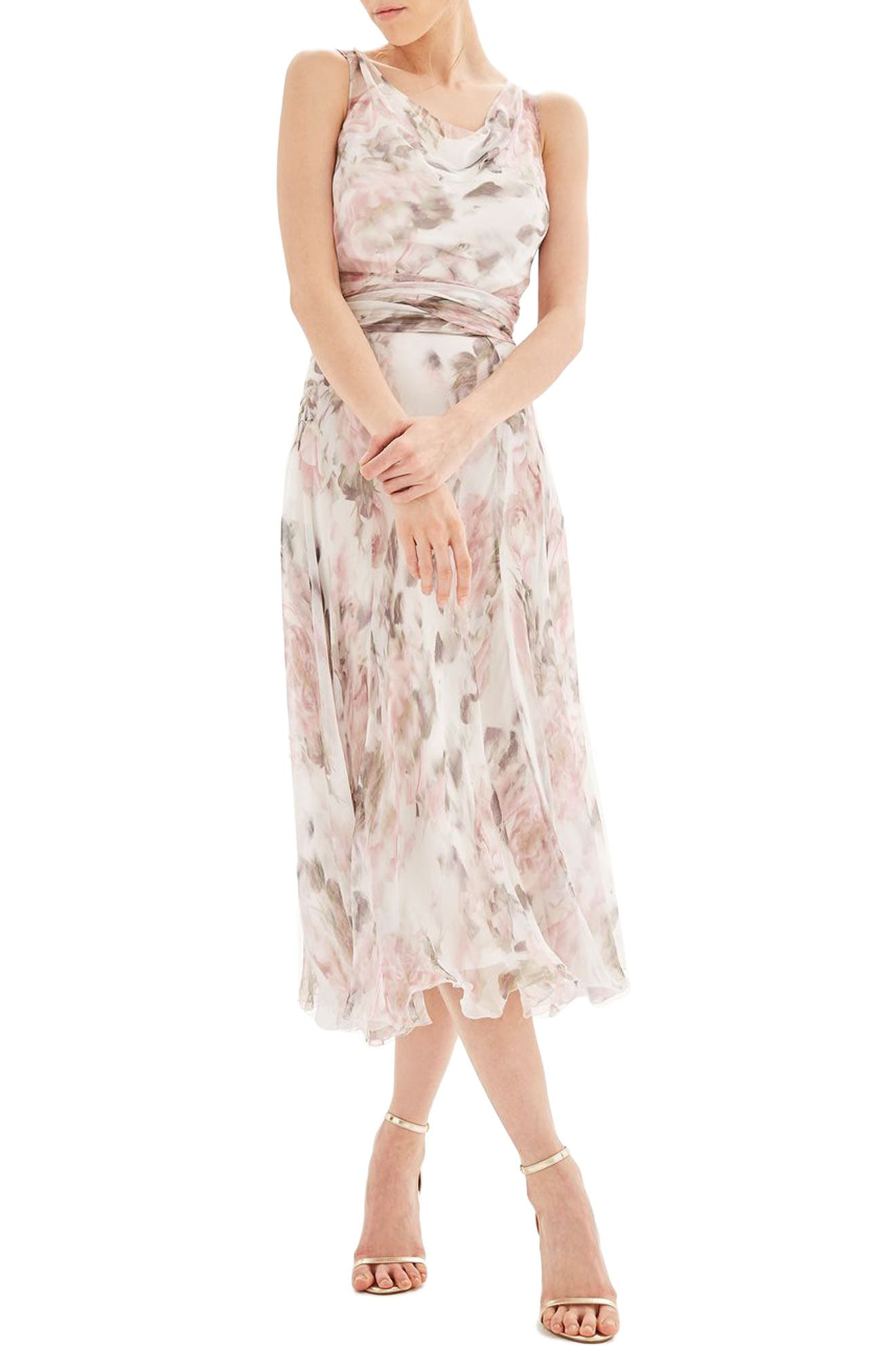 Topshop Bride Silk Midi Dress