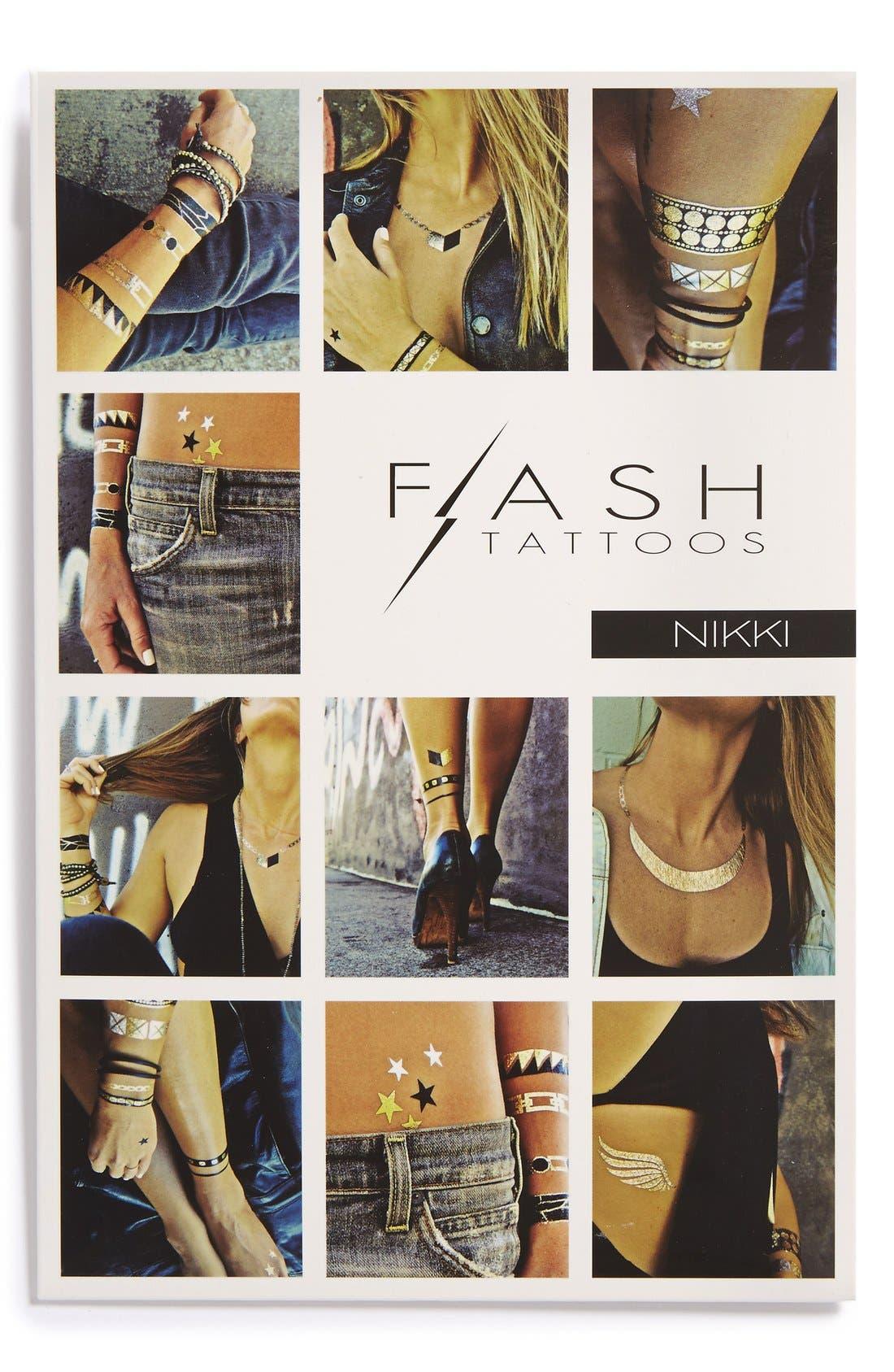 Alternate Image 1 Selected - Flash Tattoos 'Nikki' Temporary Tattoos (Juniors)