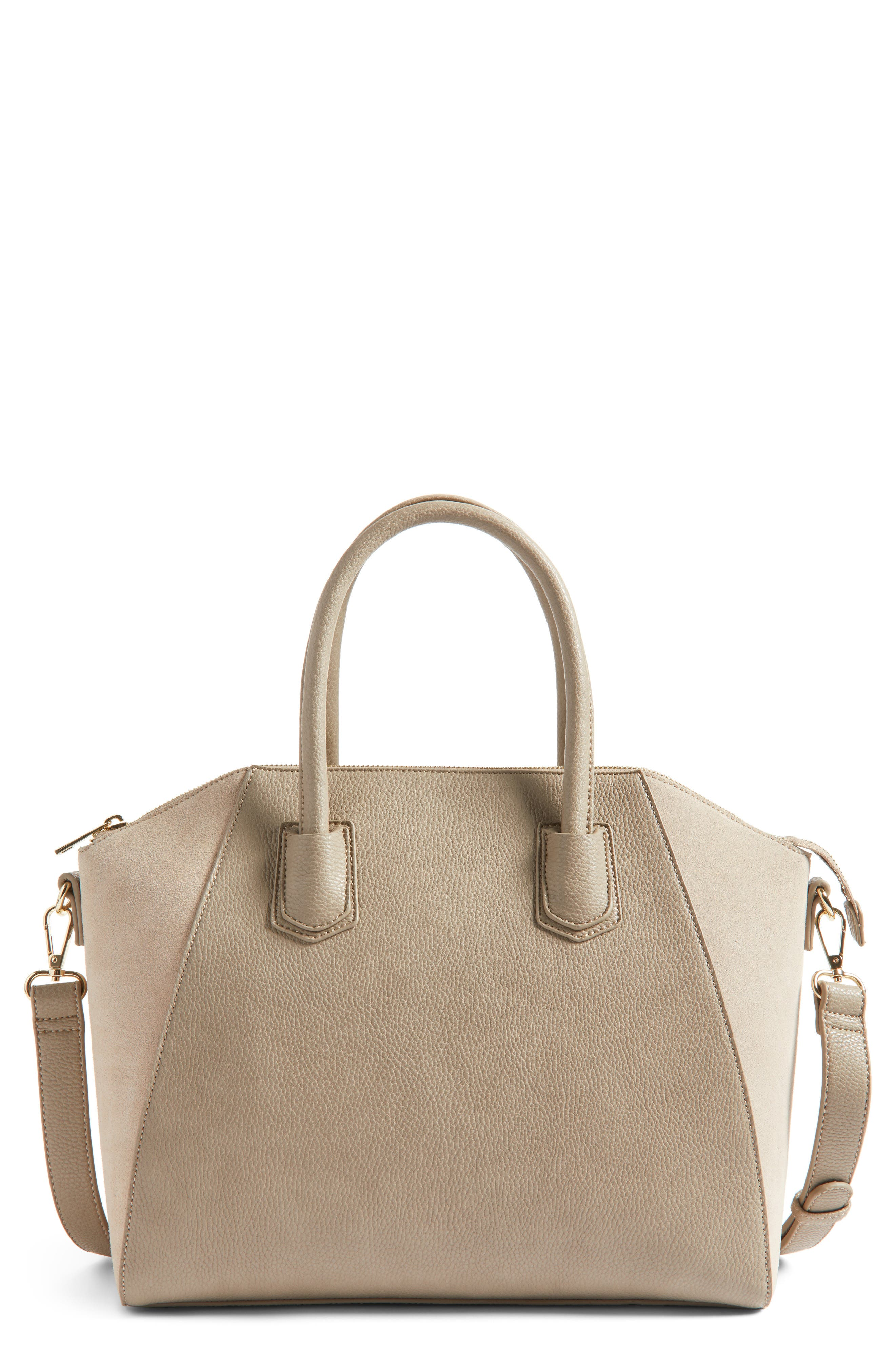 Sole Society Mikayla Faux Leather & Suede Satchel
