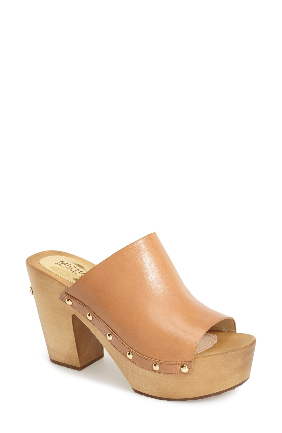 Main Image - MICHAEL Michael Kors 'Beatrice' Studded Open Toe Clog (Women)