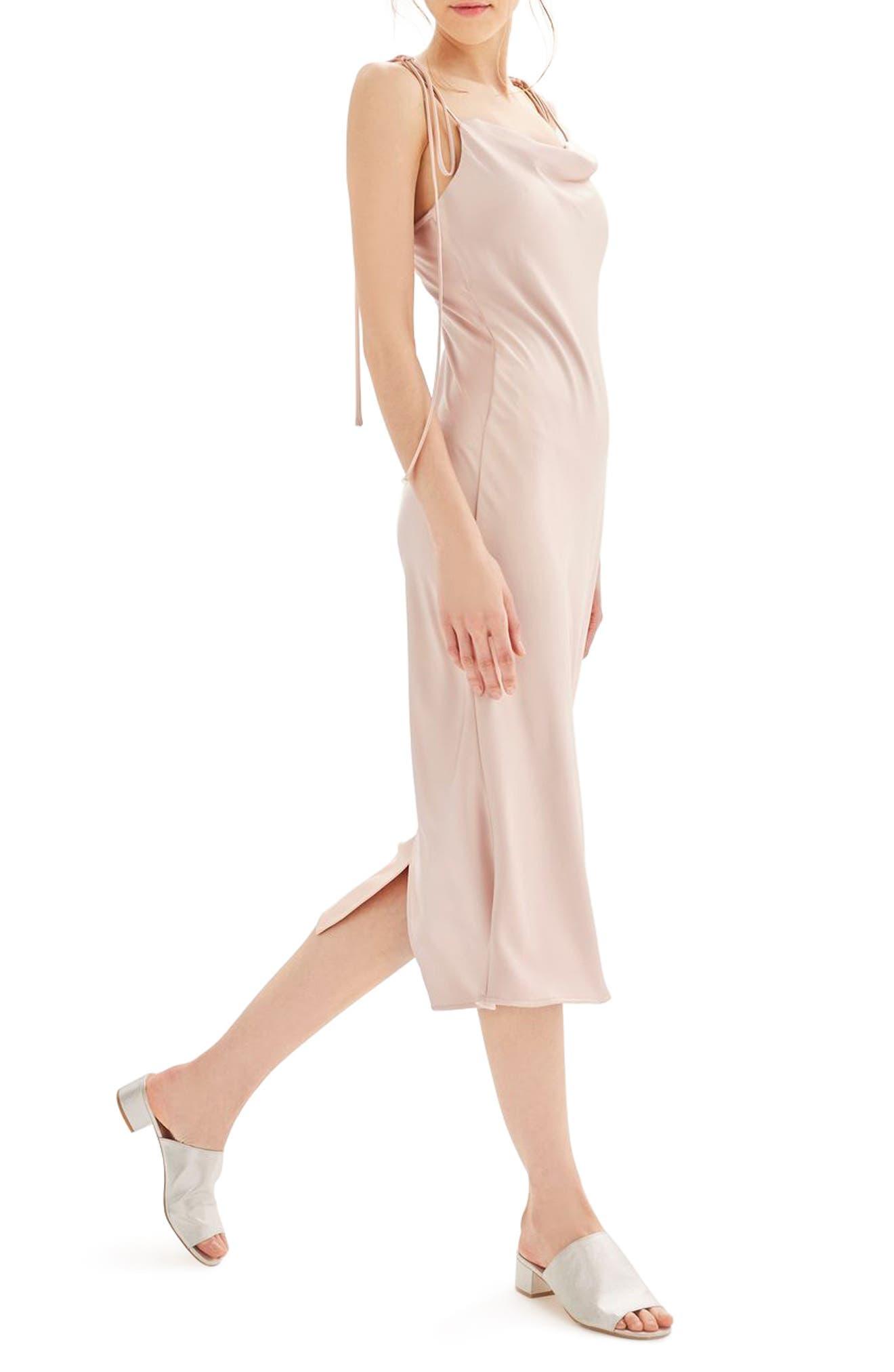 Main Image - Topshop Bride Cowl Neck Midi Dress