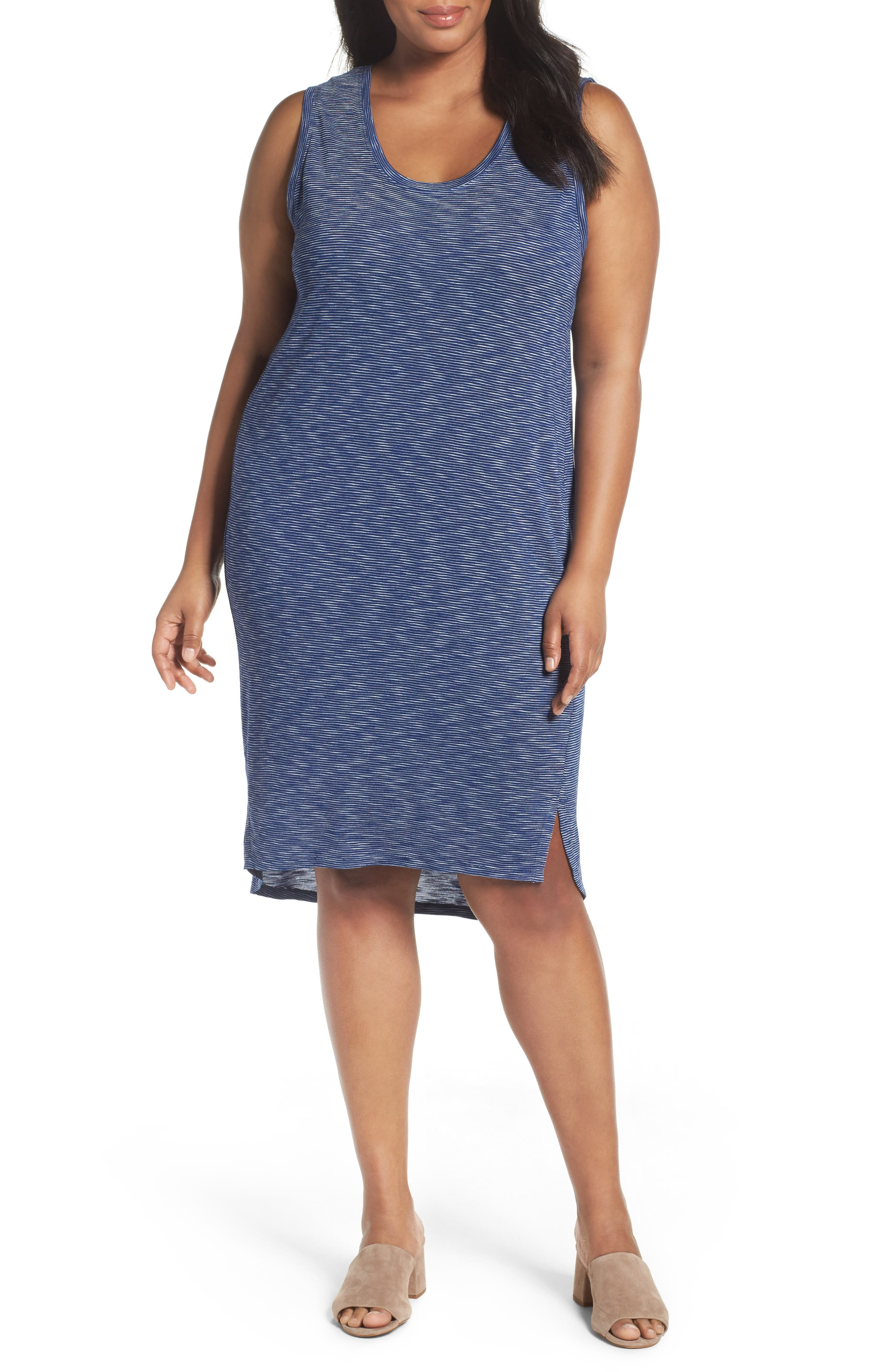 Caslon® Shirttail Tank Dress (Plus Size)