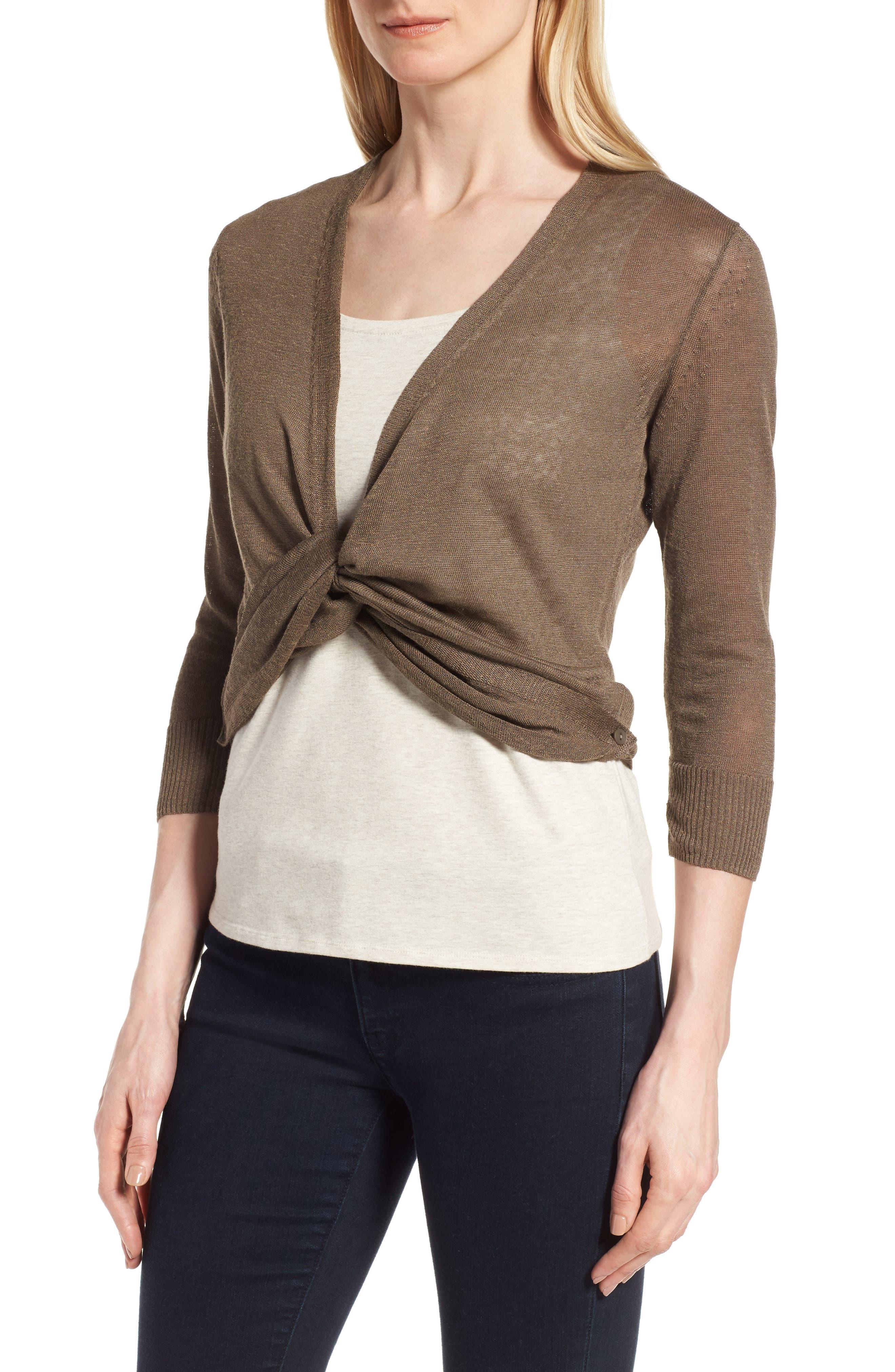 Alternate Image 4  - NIC+ZOE '4-Way' Convertible Three Quarter Sleeve Cardigan (Regular and Petite)
