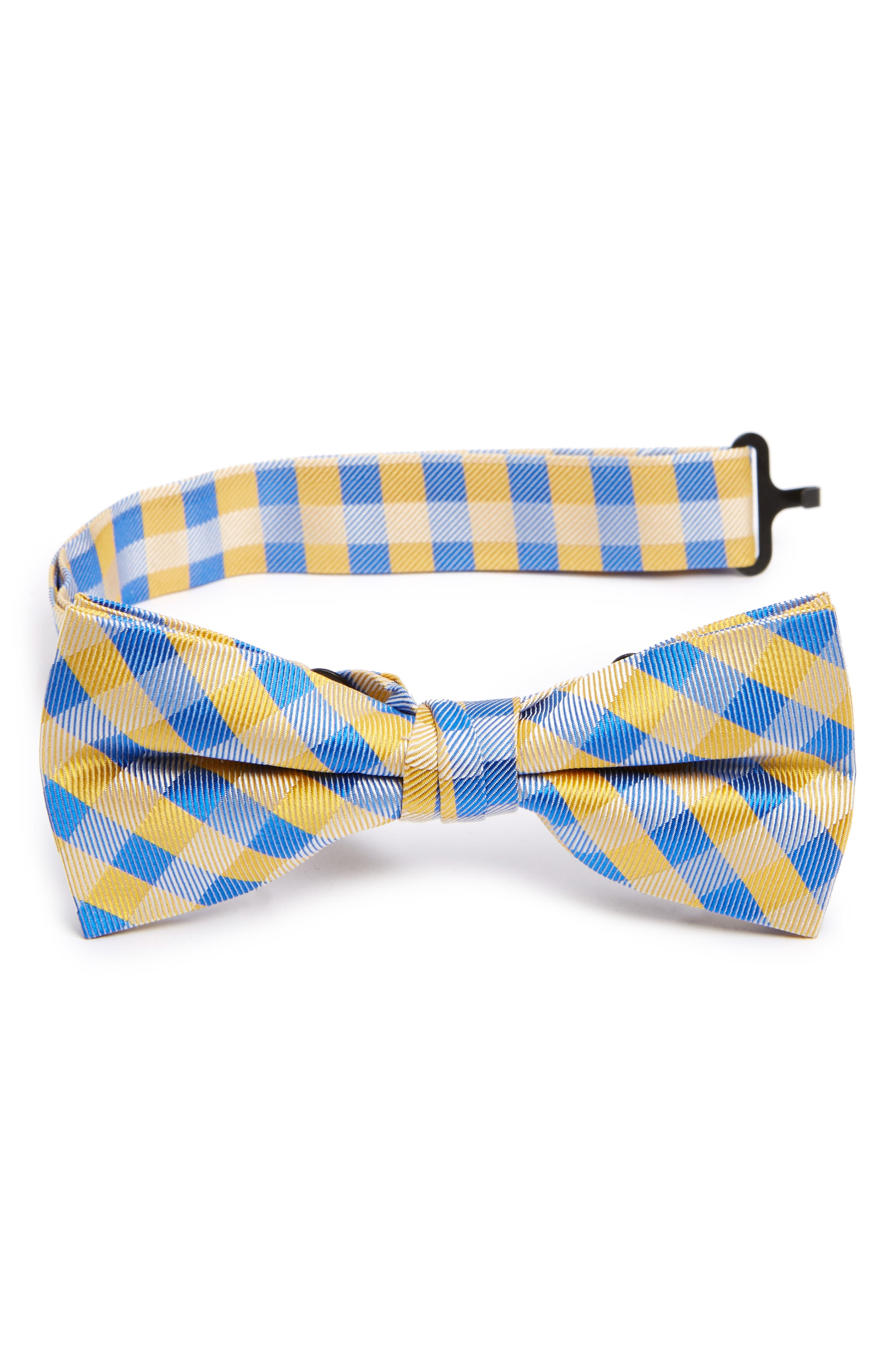 Nordstrom Plaid Silk Bow Tie (Big Boys)