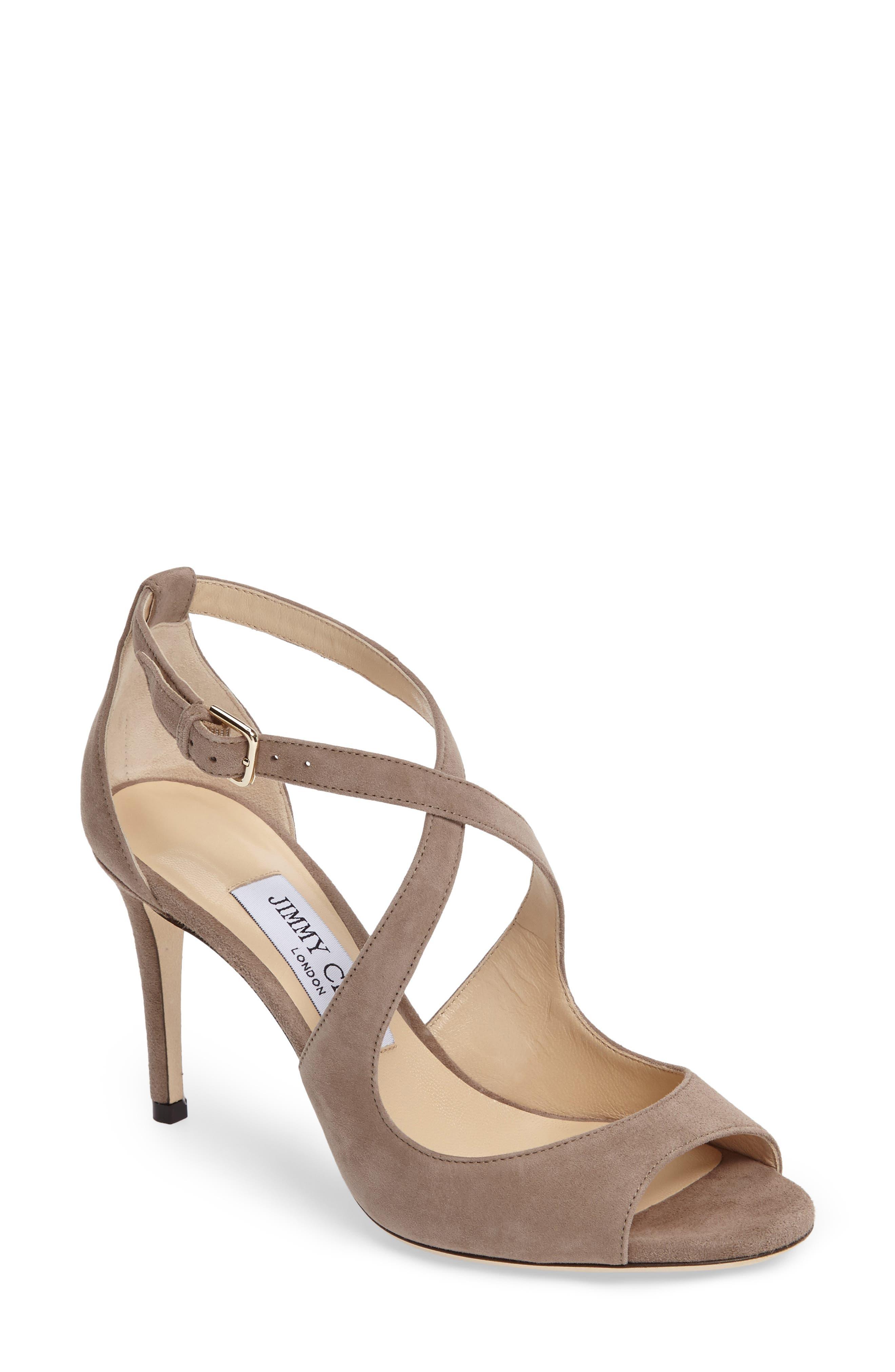 Jimmy Choo Emily Cross Strap Sandal (Women)