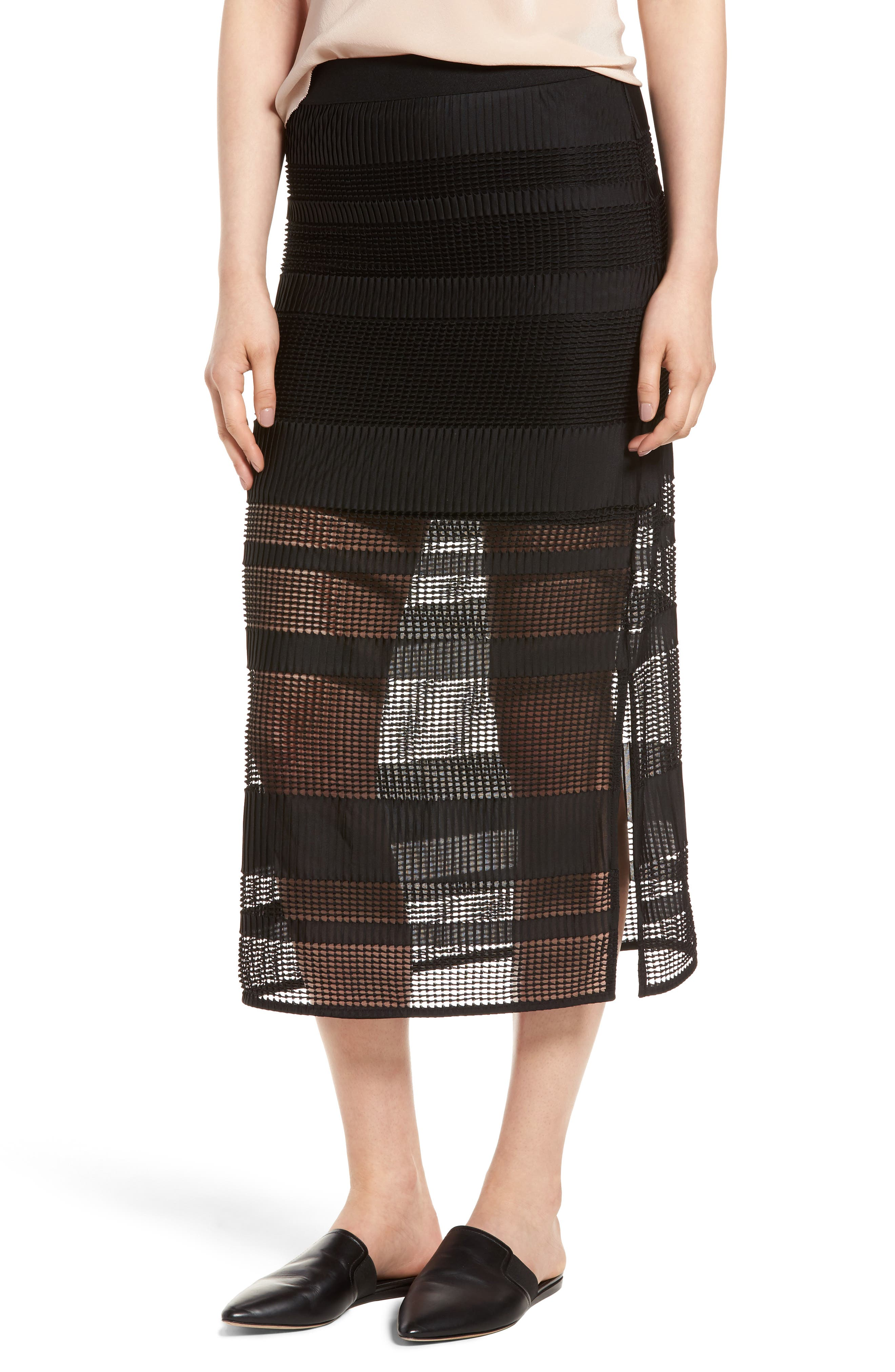 Trouvé Stripe Mesh Skirt