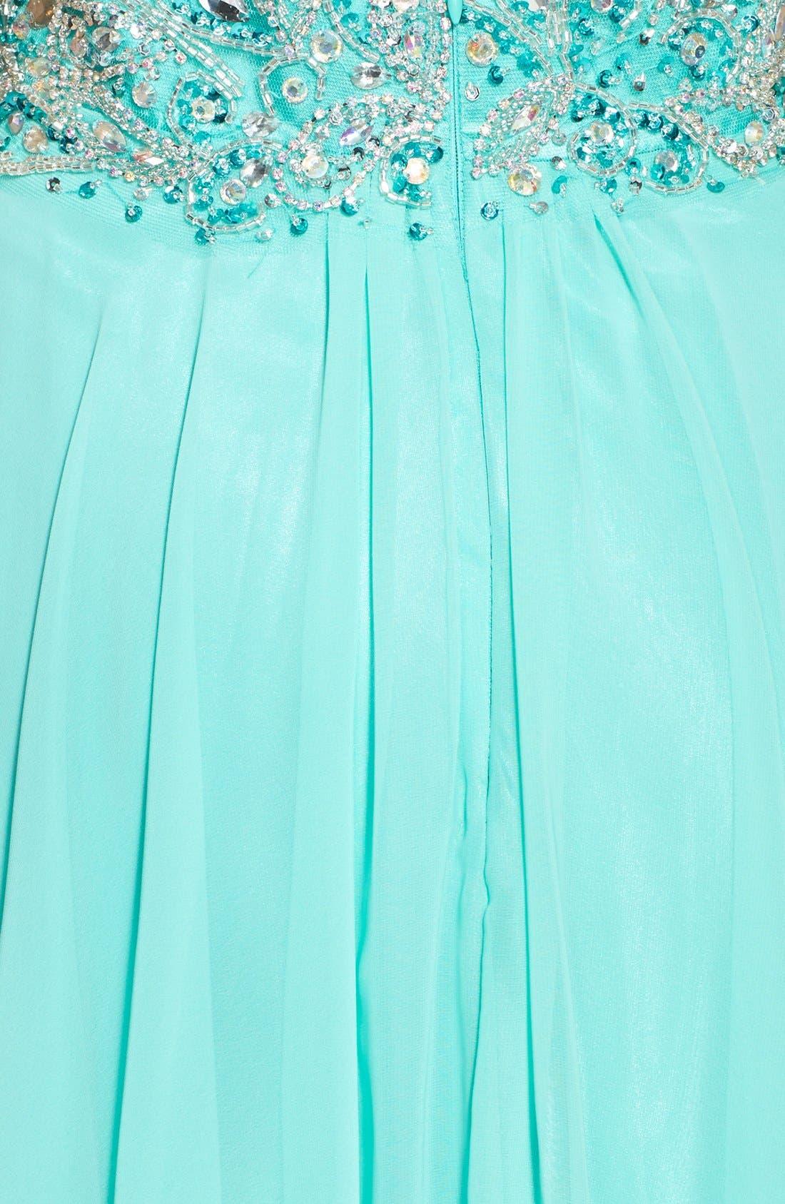 Alternate Image 3  - Faviana Embellished Chiffon Gown
