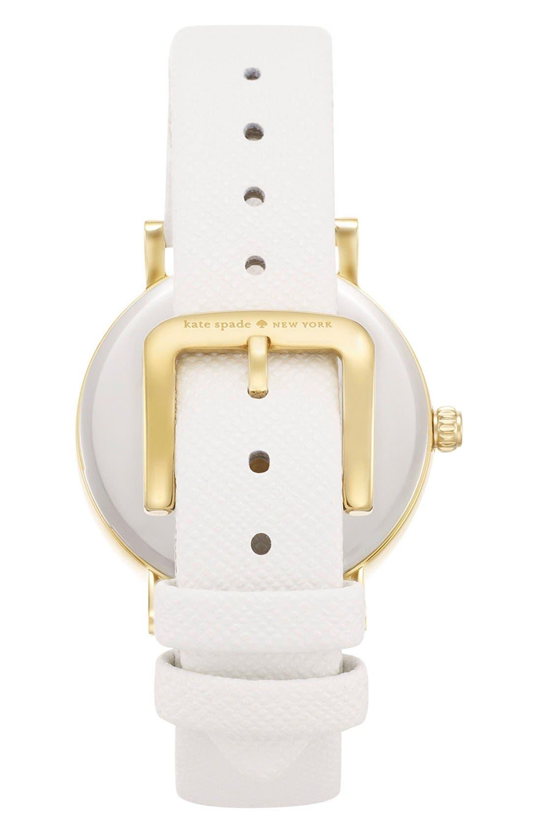 Alternate Image 2  - kate spade new york 'metro' ladybug dial leather strap watch, 34mm