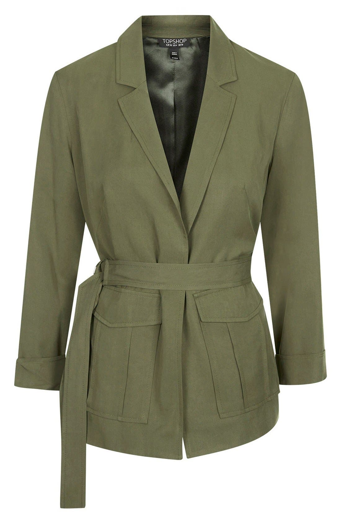 Alternate Image 3  - Topshop Belted Utility Jacket