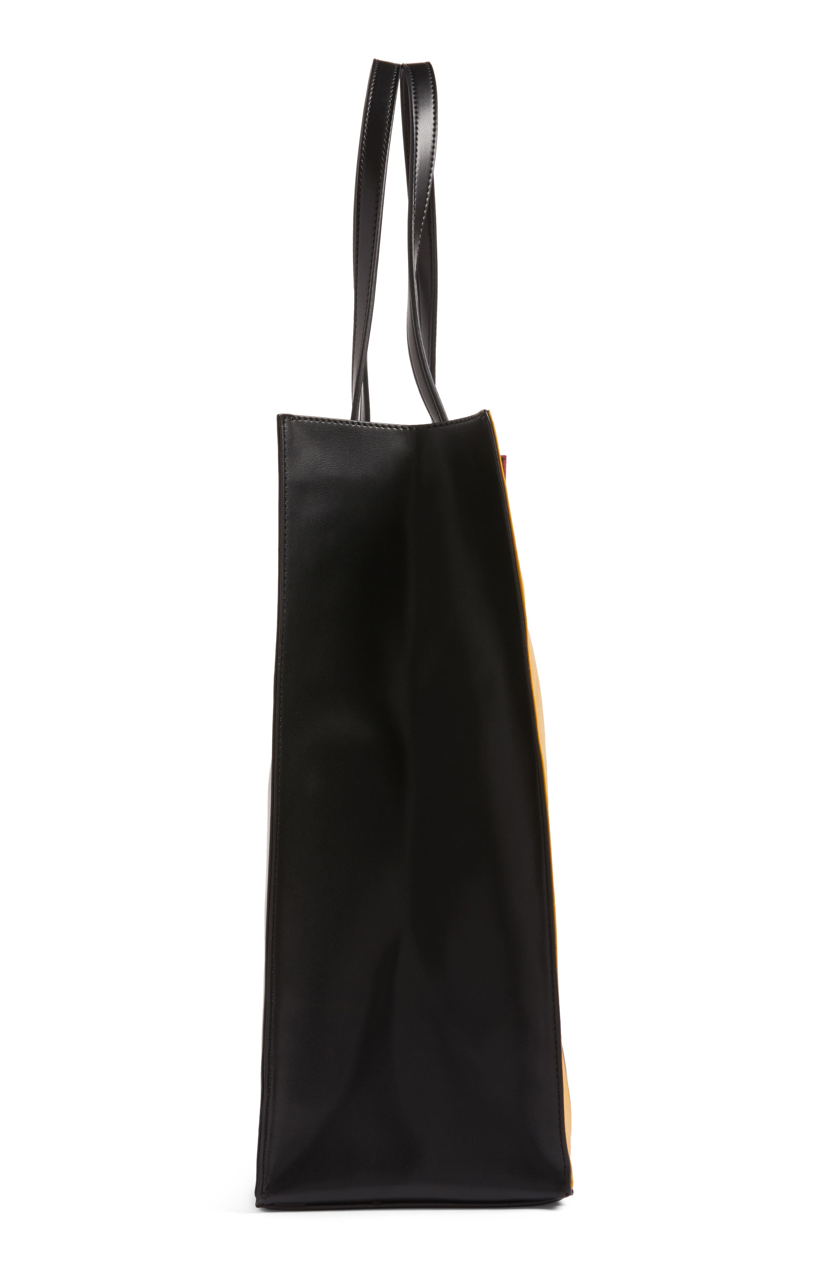 Alternate Image 5  - BP. Stripe Faux Leather Tote