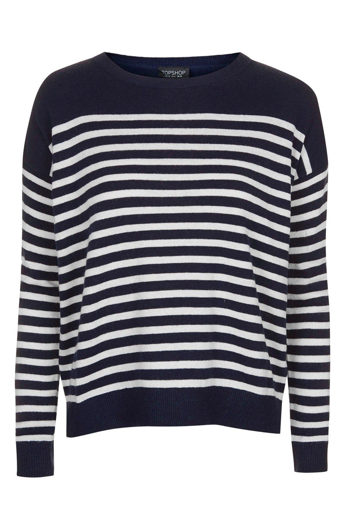 Alternate Image 3  - Topshop Breton Stripe Pullover Sweater