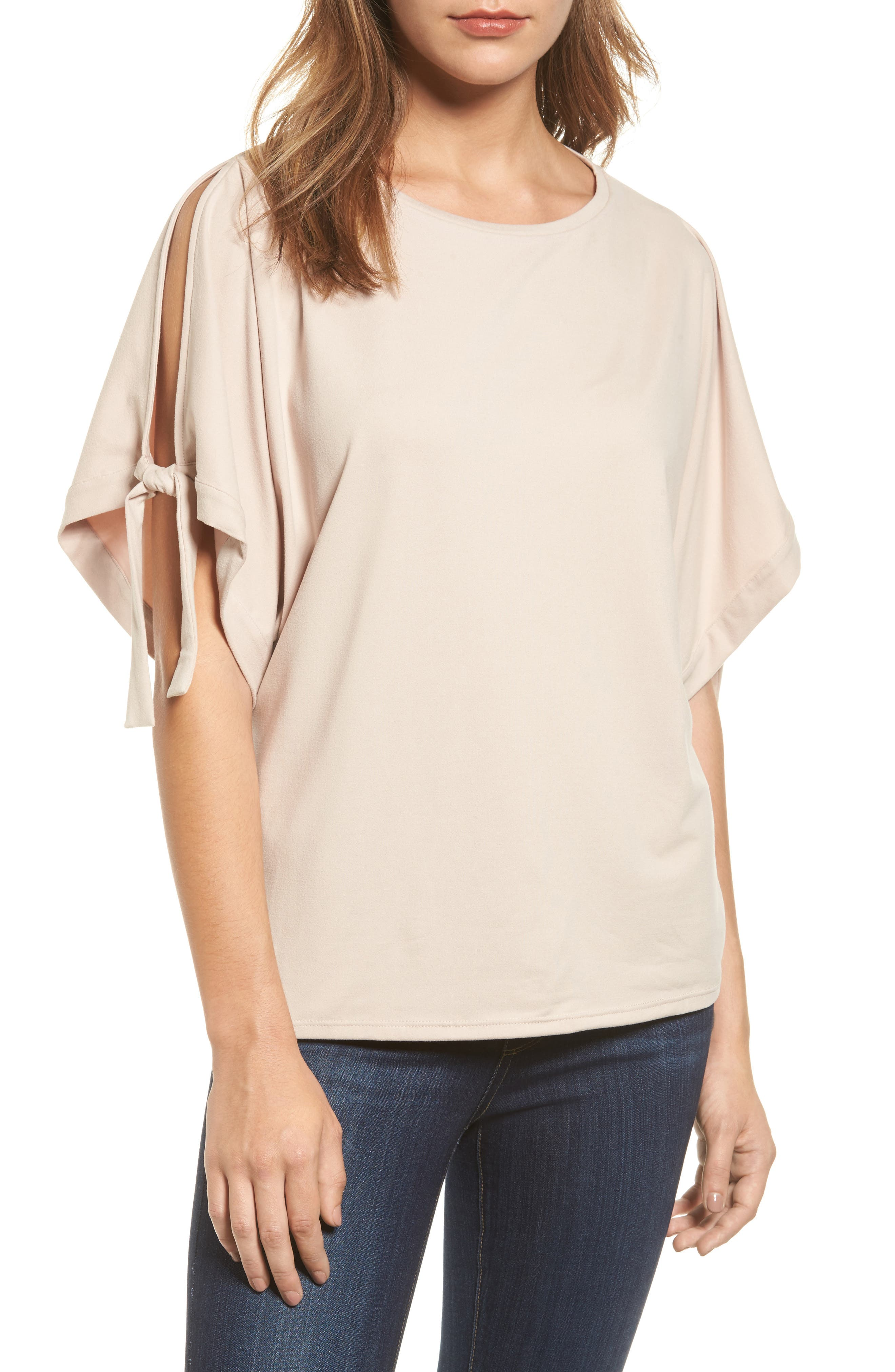 Halogen® Stretch Knit Top (Regular & Petite)
