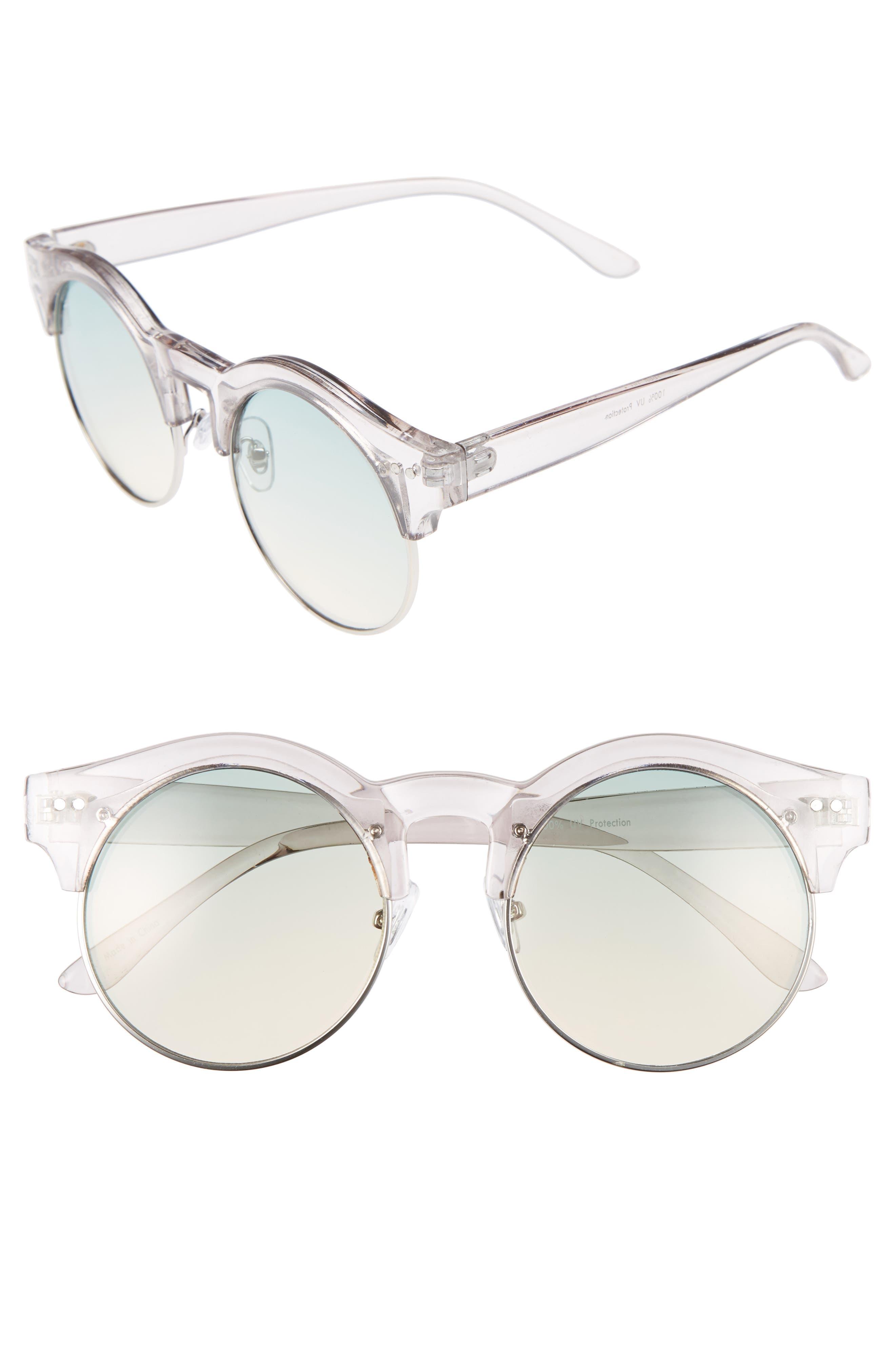 BP. 50mm Round Gradient Lens Sunglasses