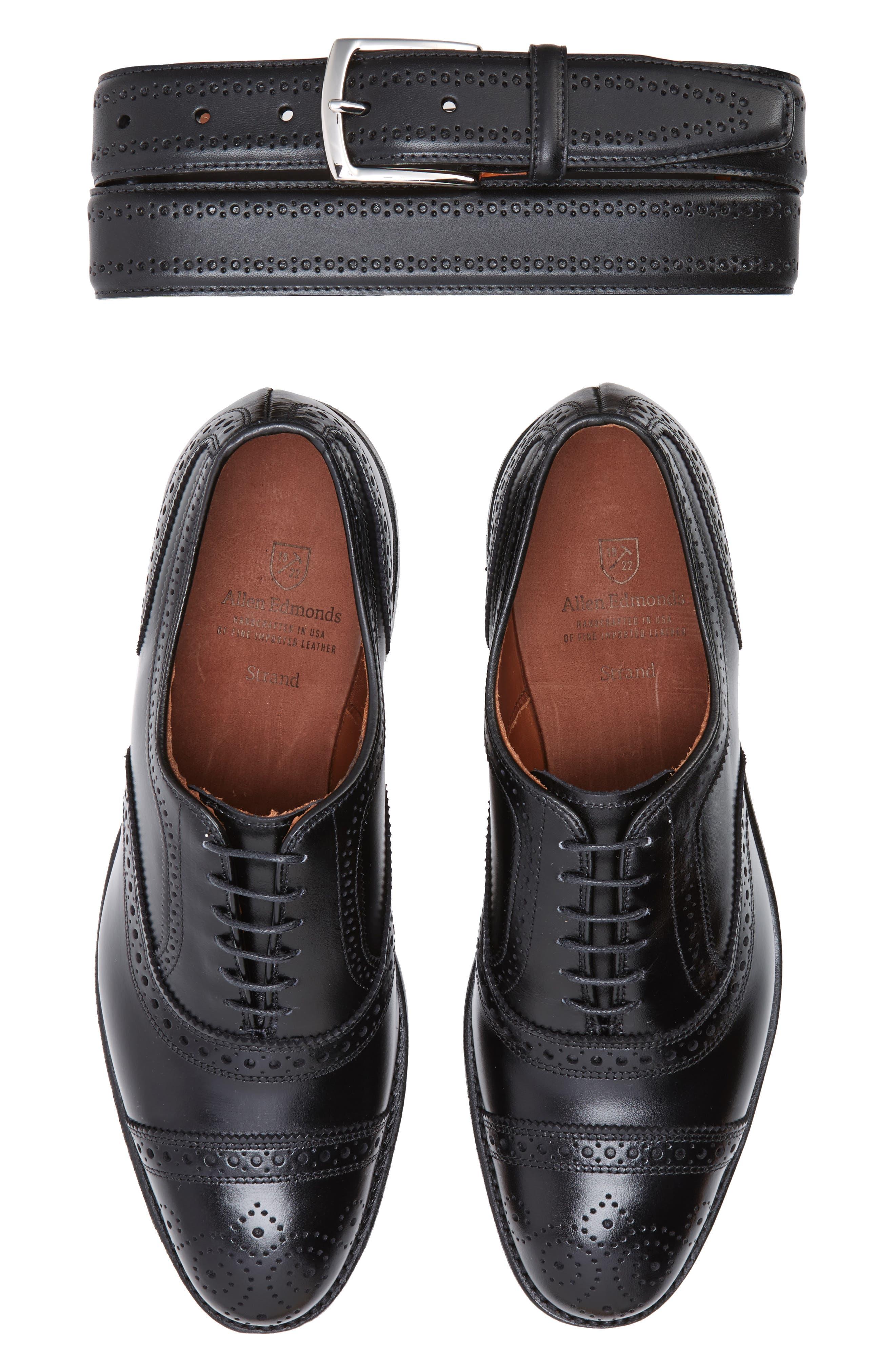 Alternate Image 4  - Allen Edmonds Manistee Brogue Leather Belt