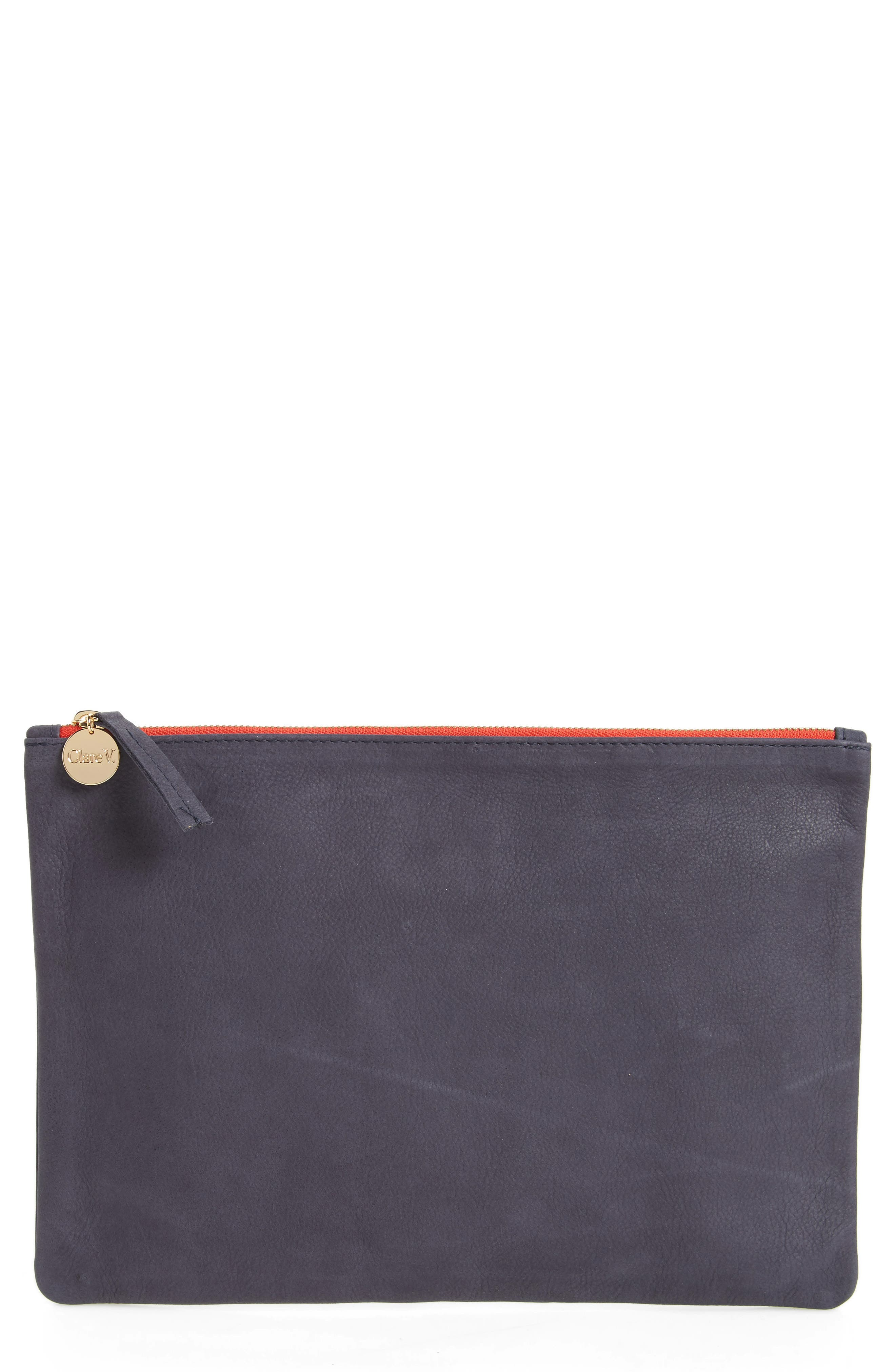Clare V. Nubuck Leather Clutch