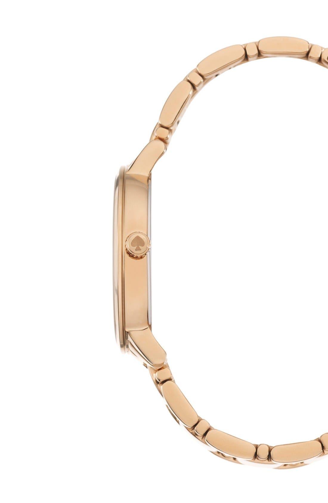 Alternate Image 3  - kate spade new york 'gramercy' dot dial bracelet watch, 34mm