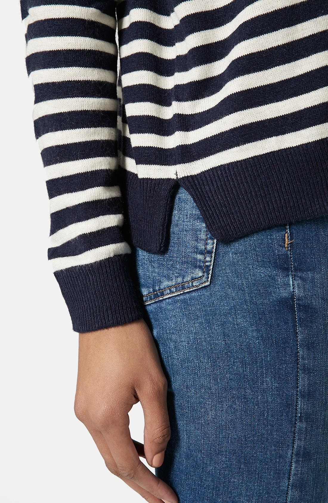 Alternate Image 4  - Topshop Breton Stripe Pullover Sweater