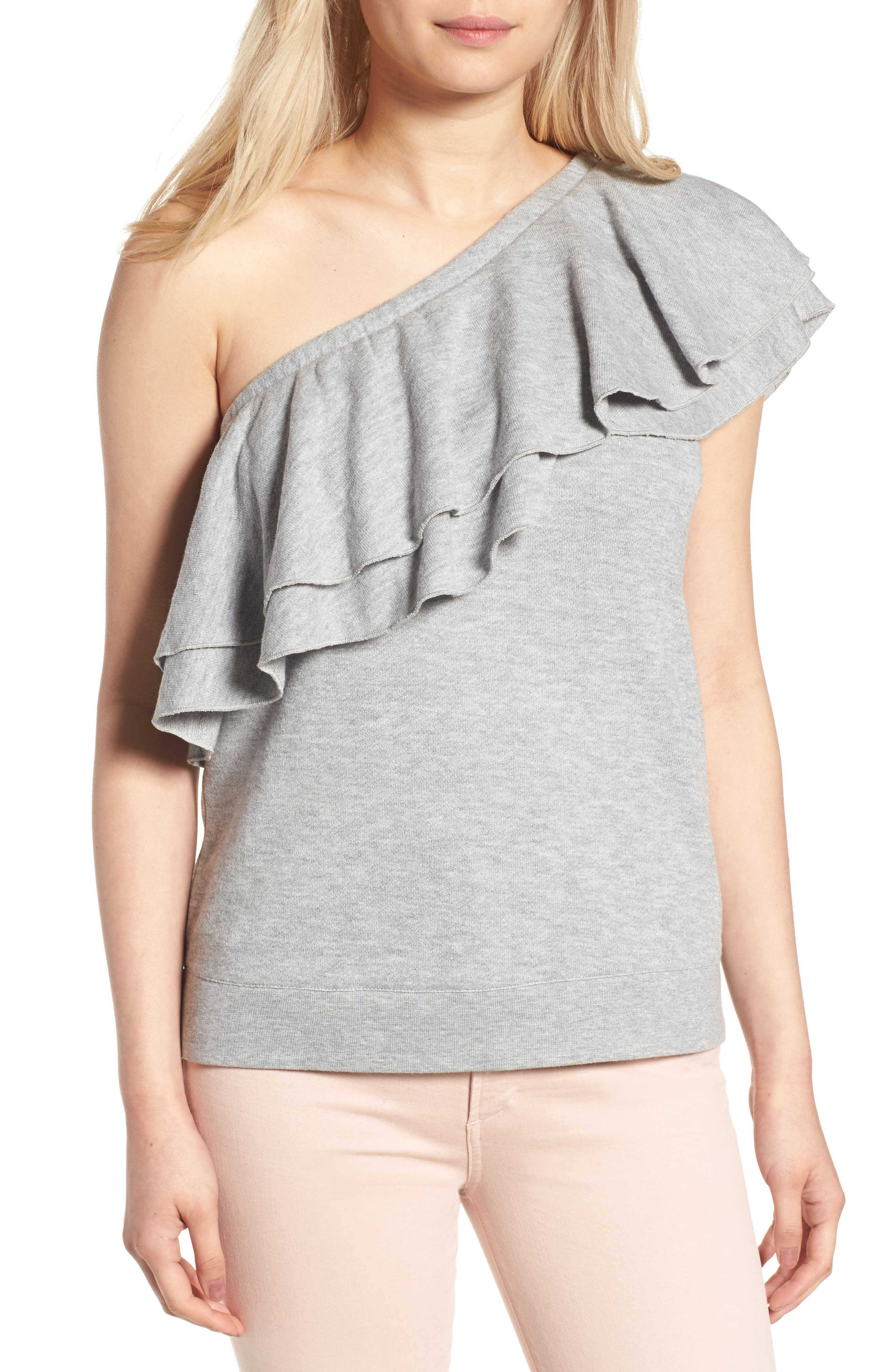 Chelsea28 Ruffle One-Shoulder Top