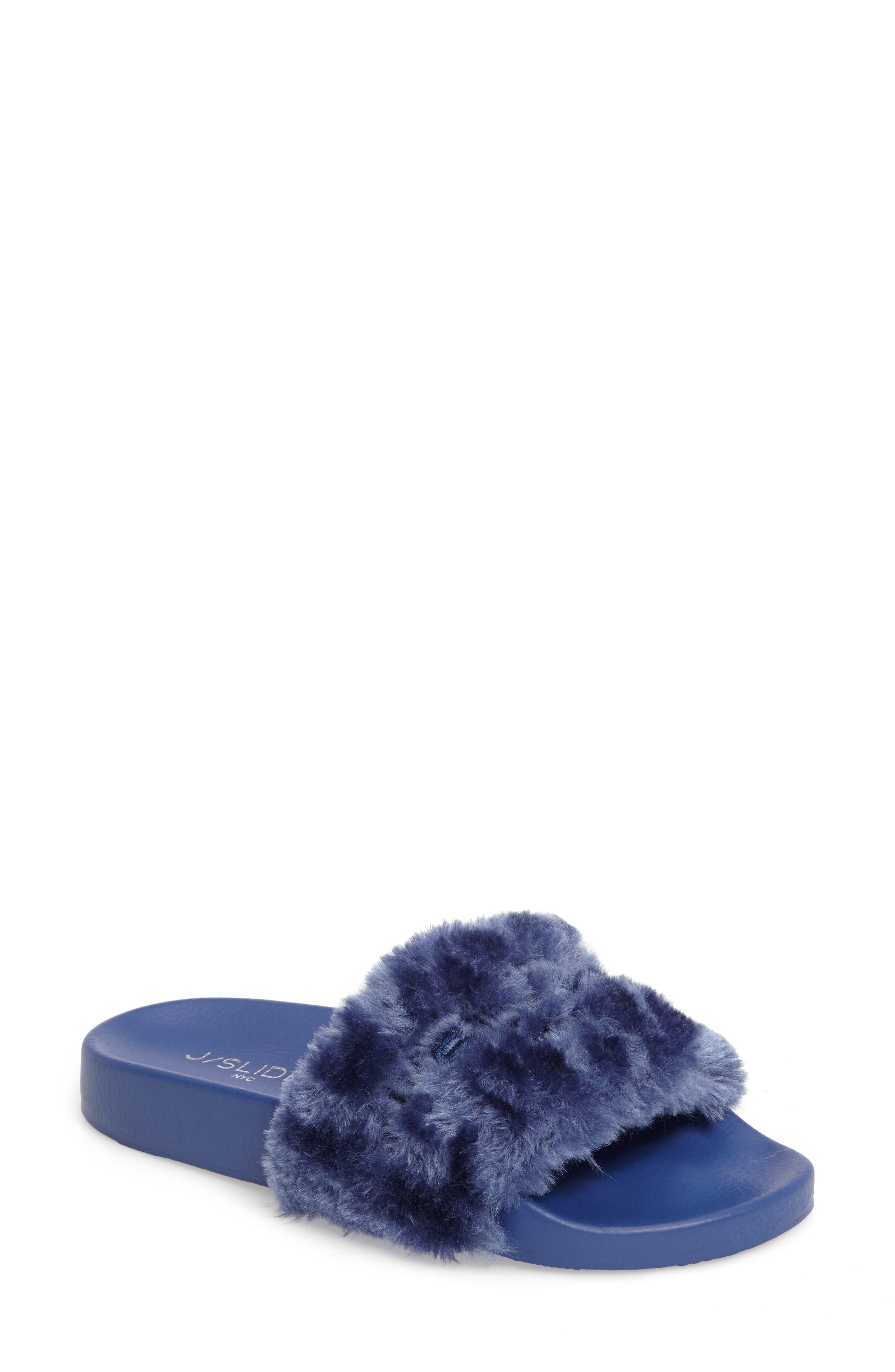 JSlides Samantha Faux Fur Slide (Women)