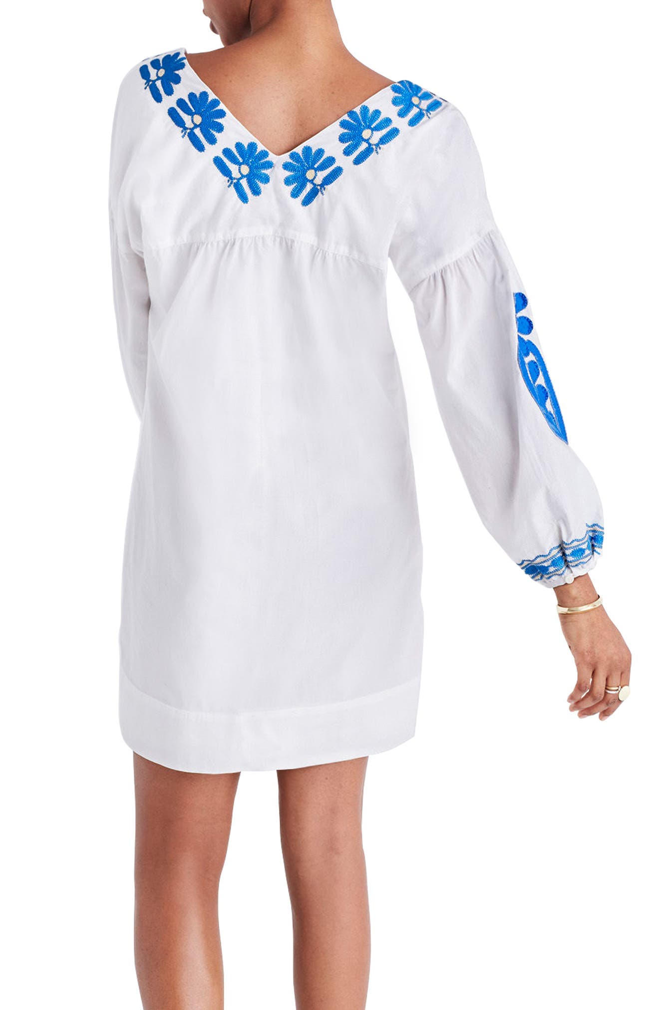 Alternate Image 2  - Madewell Embroidered Appliqué Shift Dress