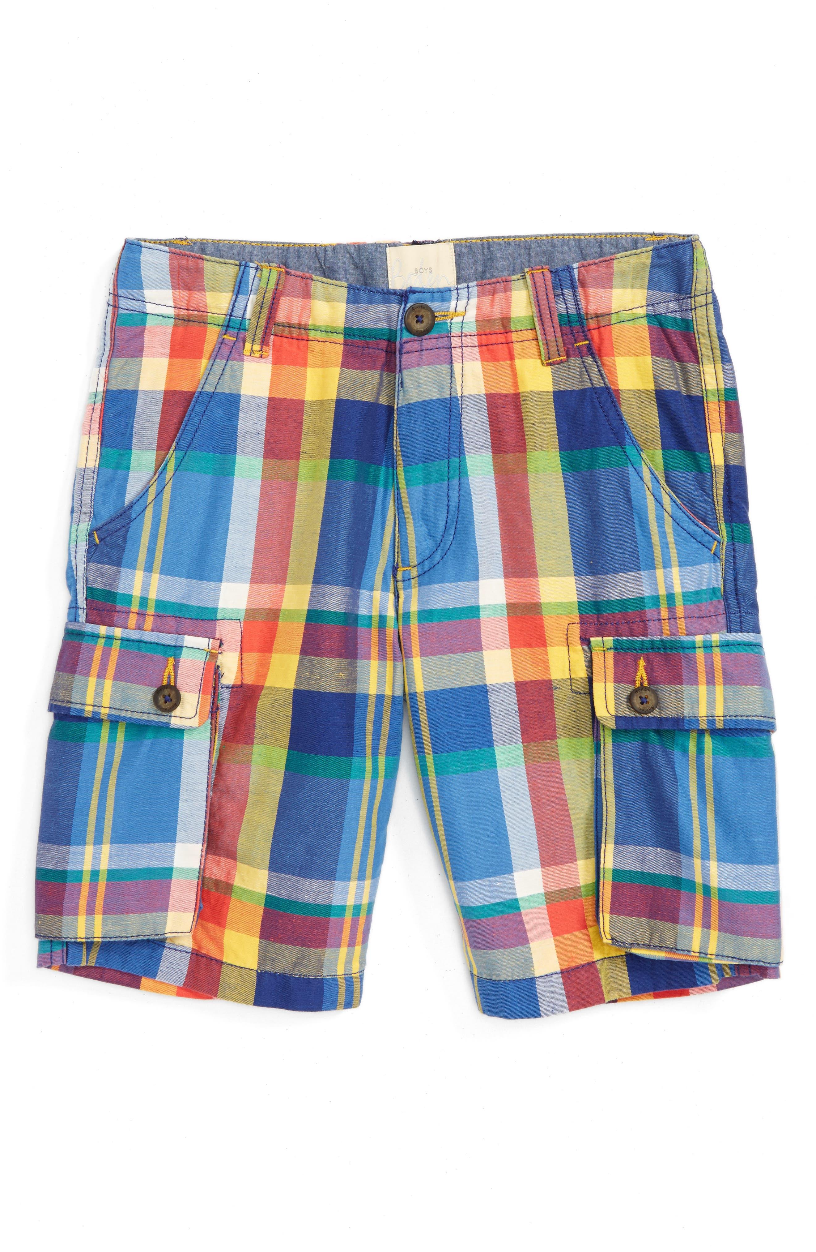 Mini Boden Summer Cargo Shorts (Toddler Boys, Little Boys & Big Boys)