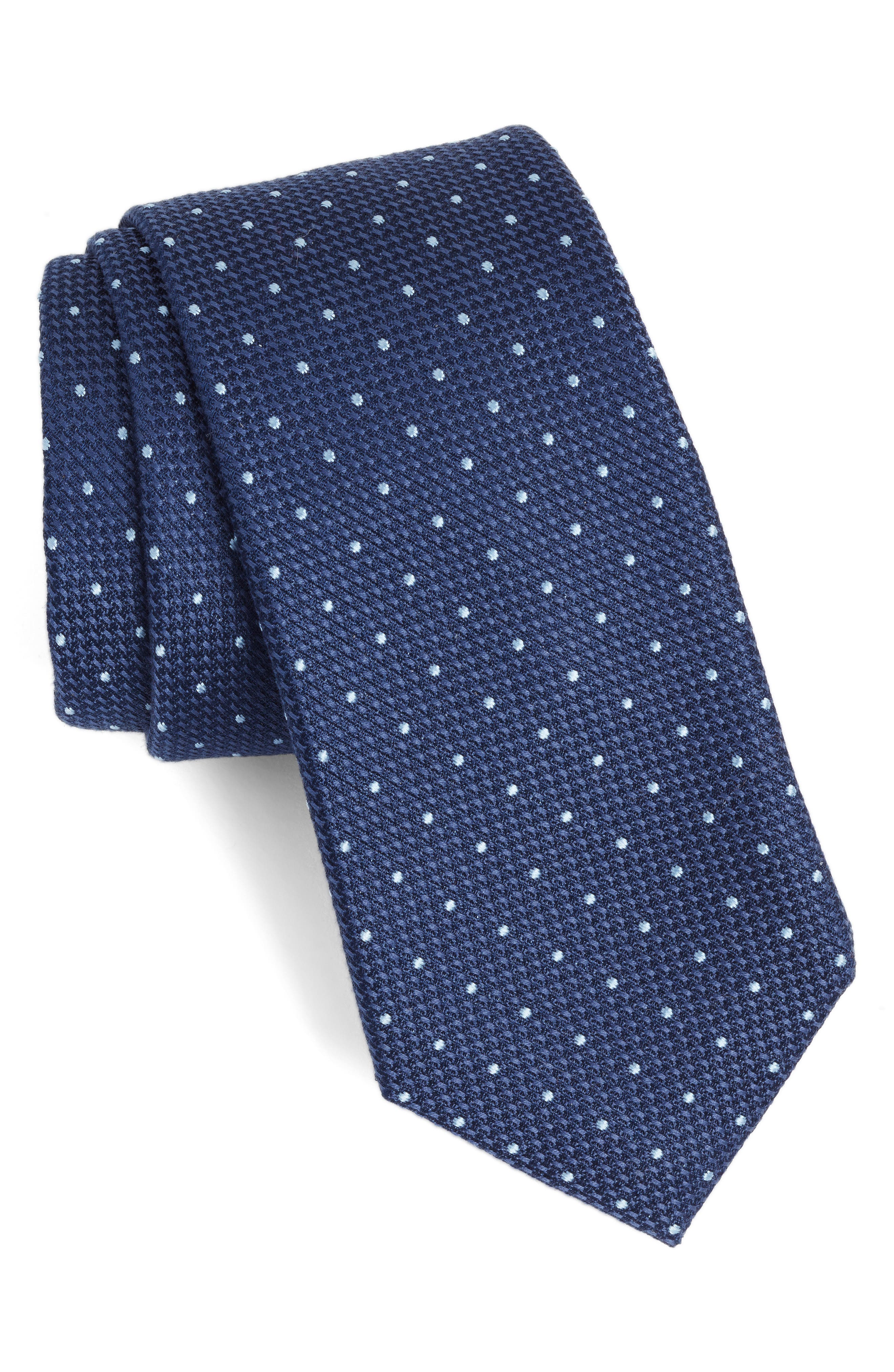 Calibrate Dot Cotton & Silk Tie