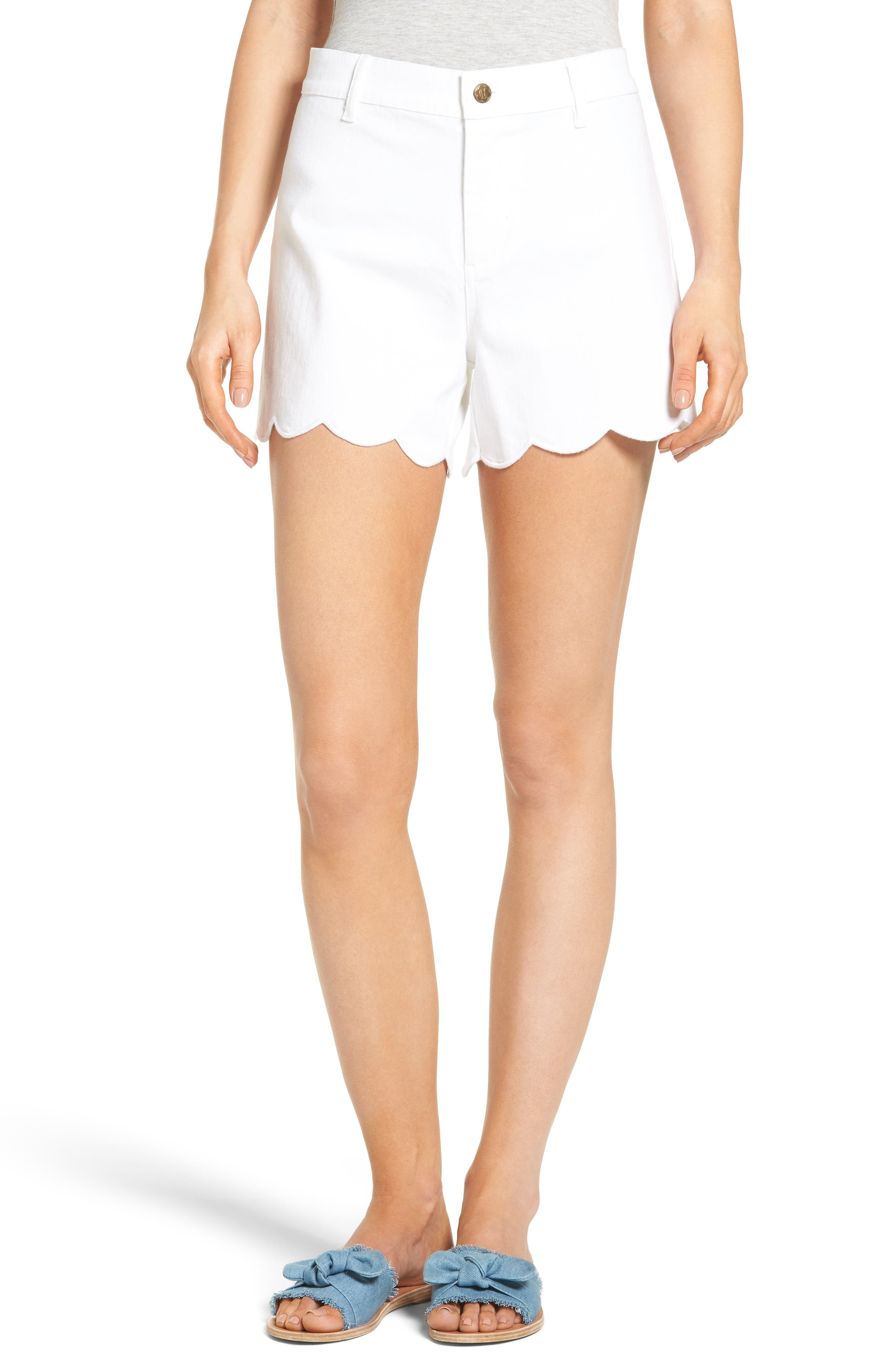 Draper James Scallop Denim Shorts