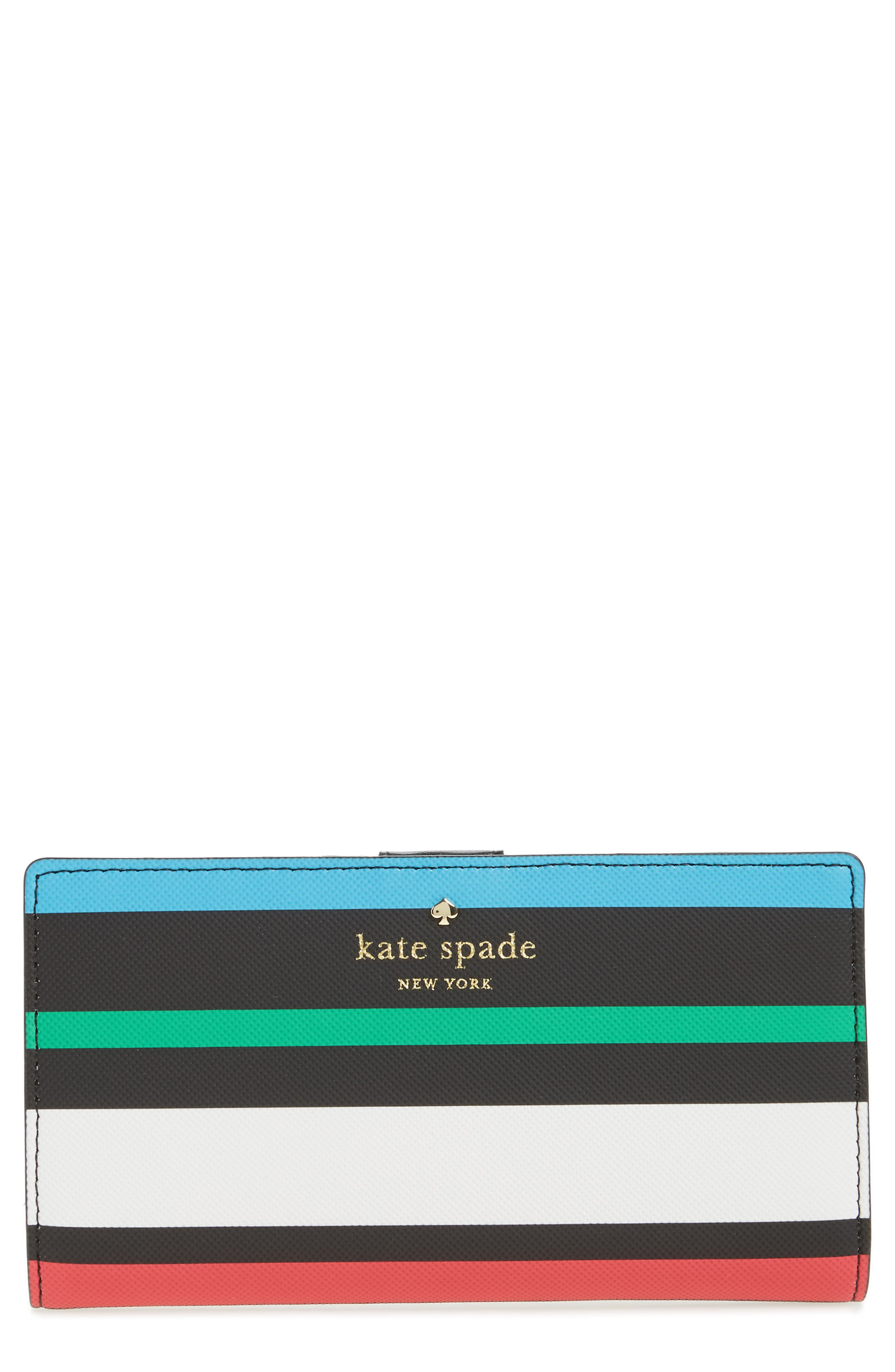 kate spade new york harding street - fiesta stripe stacy wallet