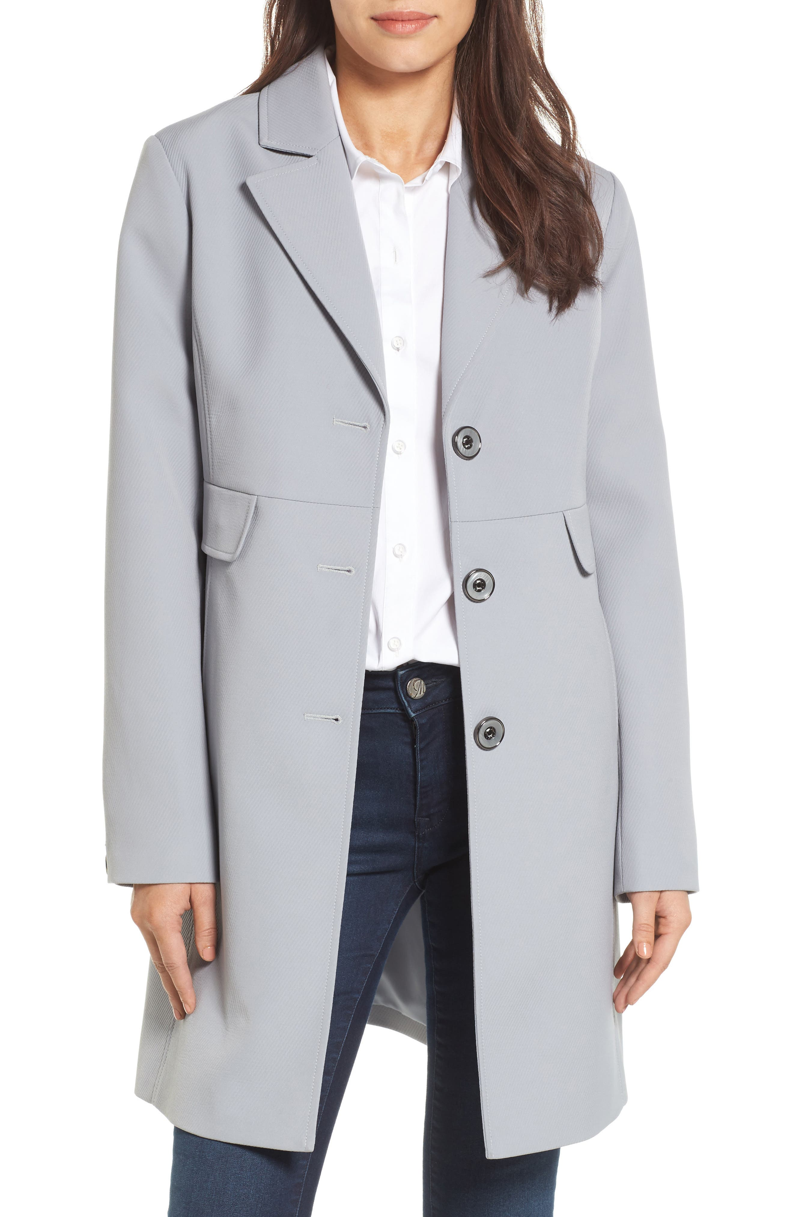 Kenneth Cole New York Single Breasted Trench Coat