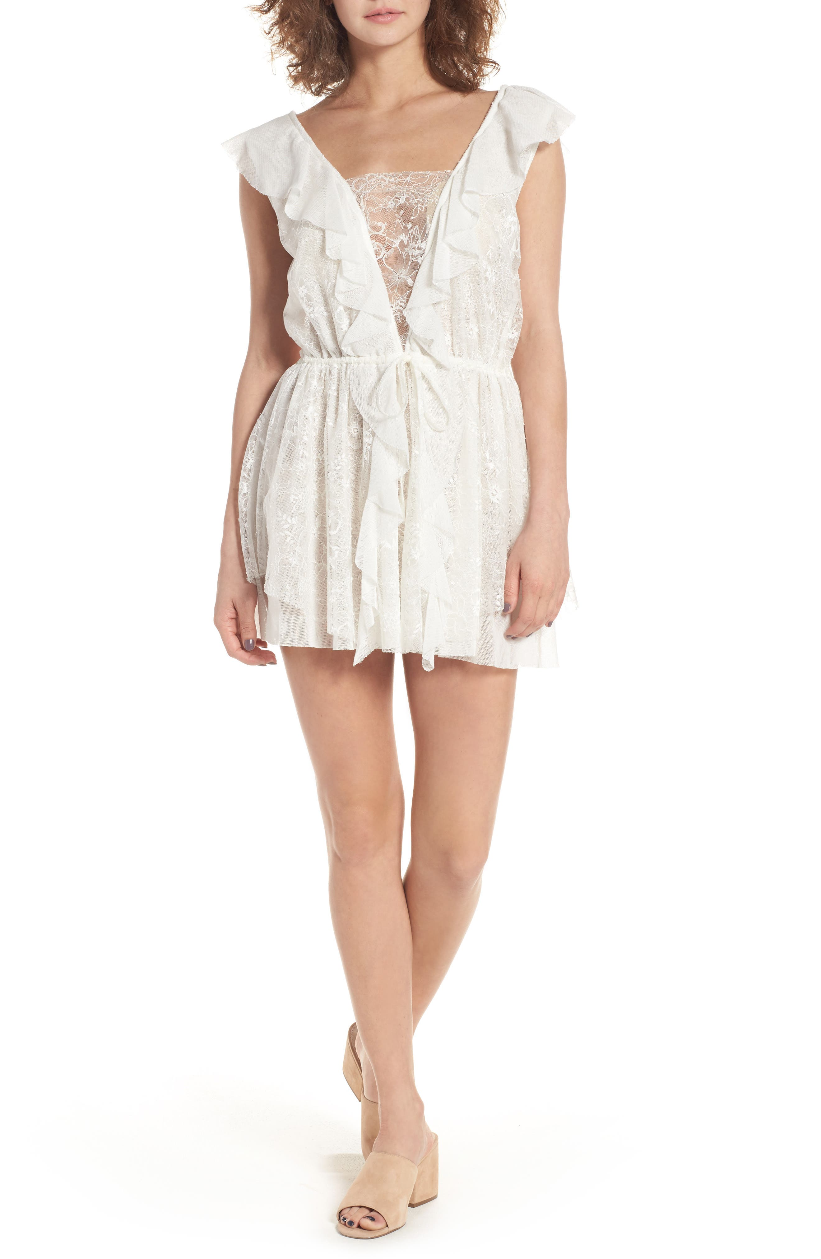 For Love & Lemons Stardust Lace Minidress