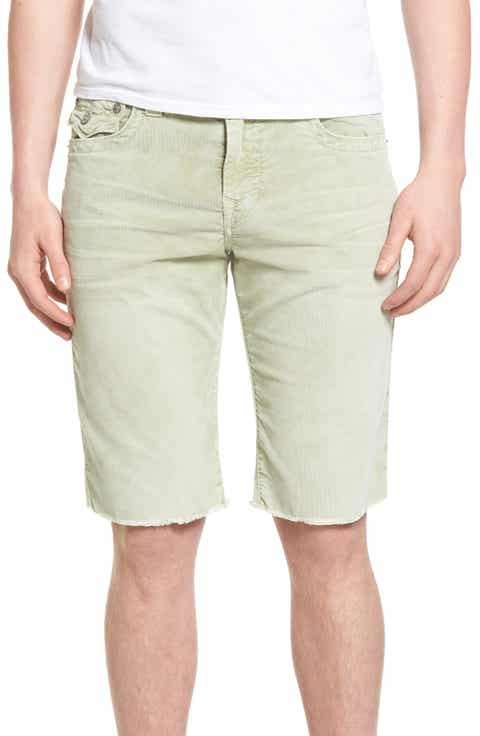 True Religion Brand Jeans Ricky Flap Corduroy Shorts (Regular   Big)