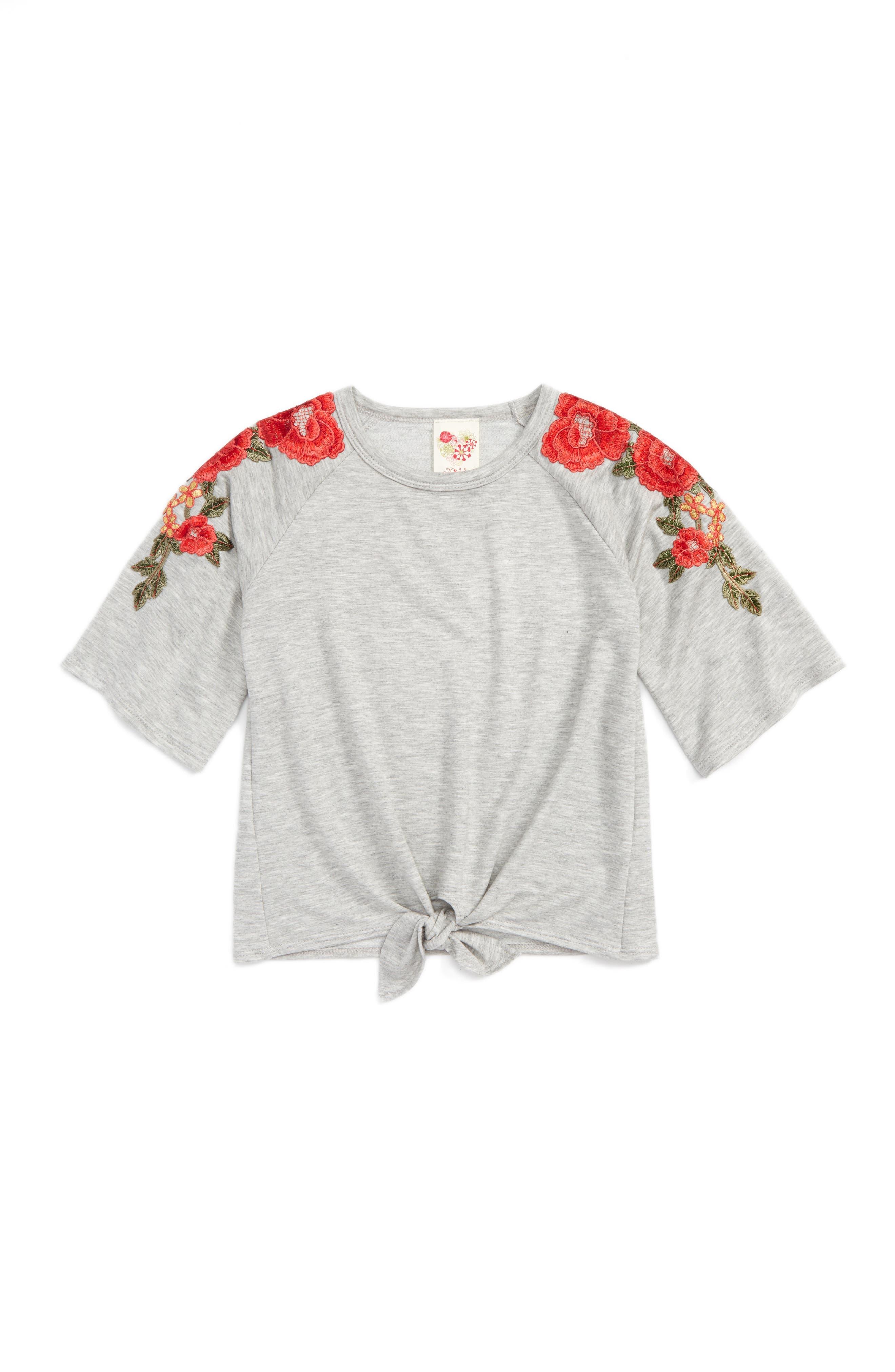 Kiddo Floral Sleeve Top (Big Girls)