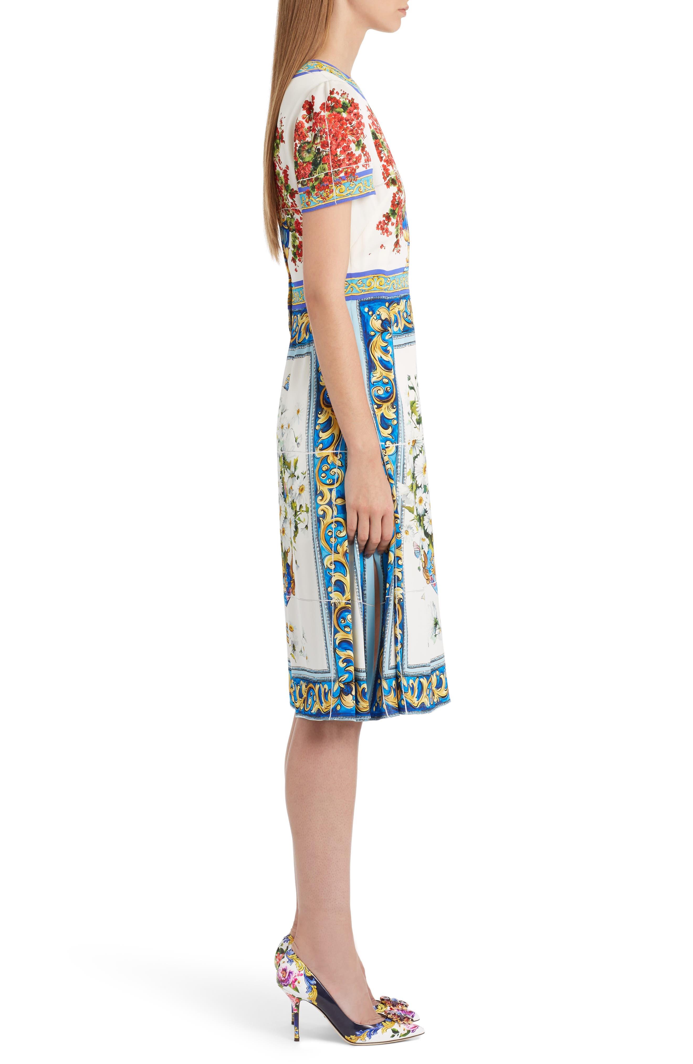Alternate Image 4  - Dolce&Gabbana Print Silk Fit & Flare Dress