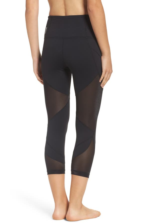 Main Image - Zella Glam High Waist Crop Leggings