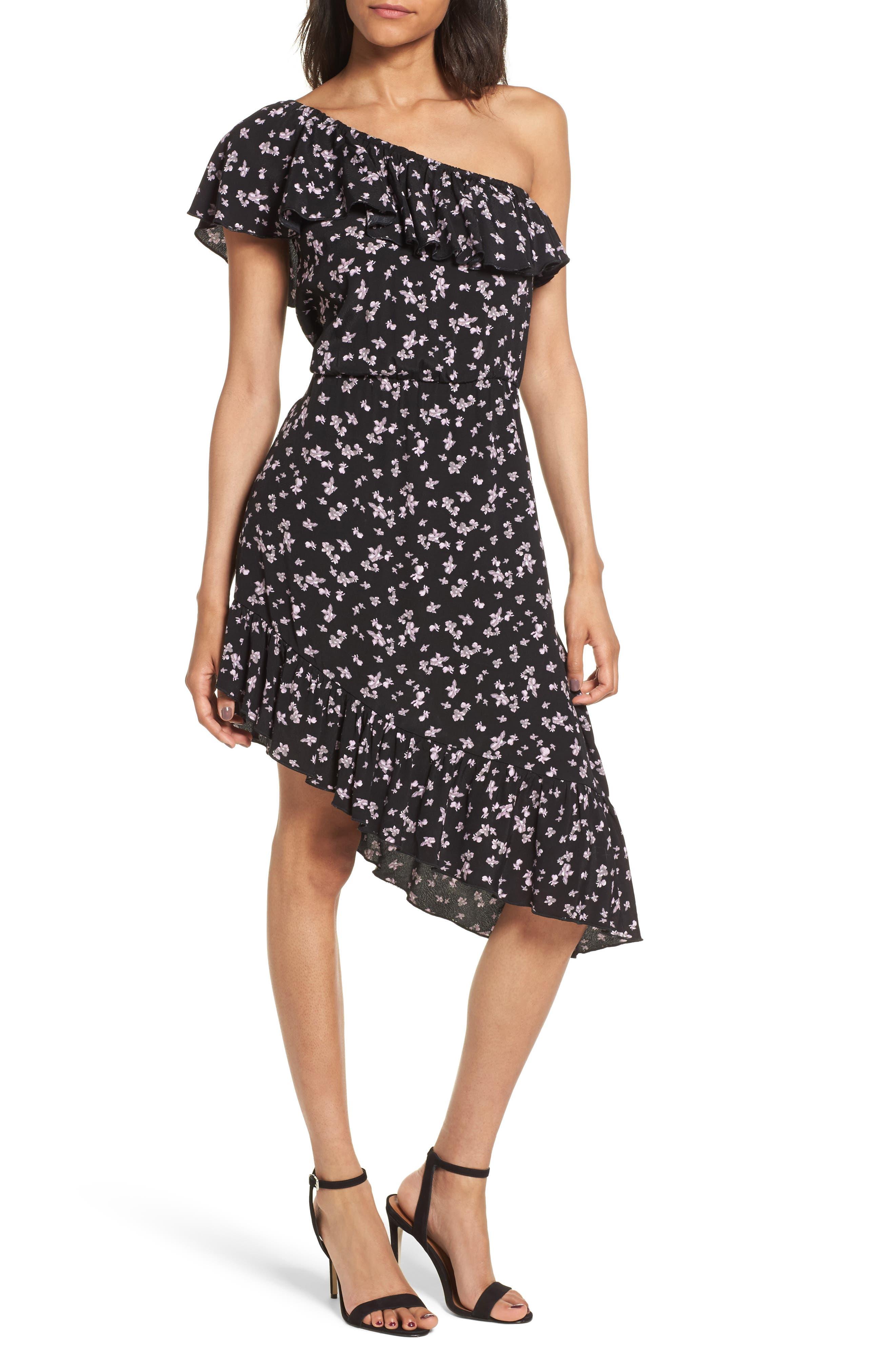 Leith One-Shoulder Ruffle Dress