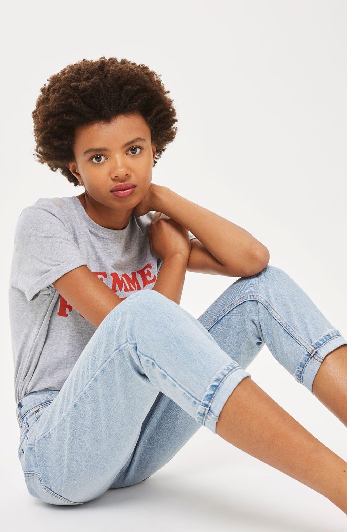 Alternate Image 2  - Topshop Mom Jeans (Petite)