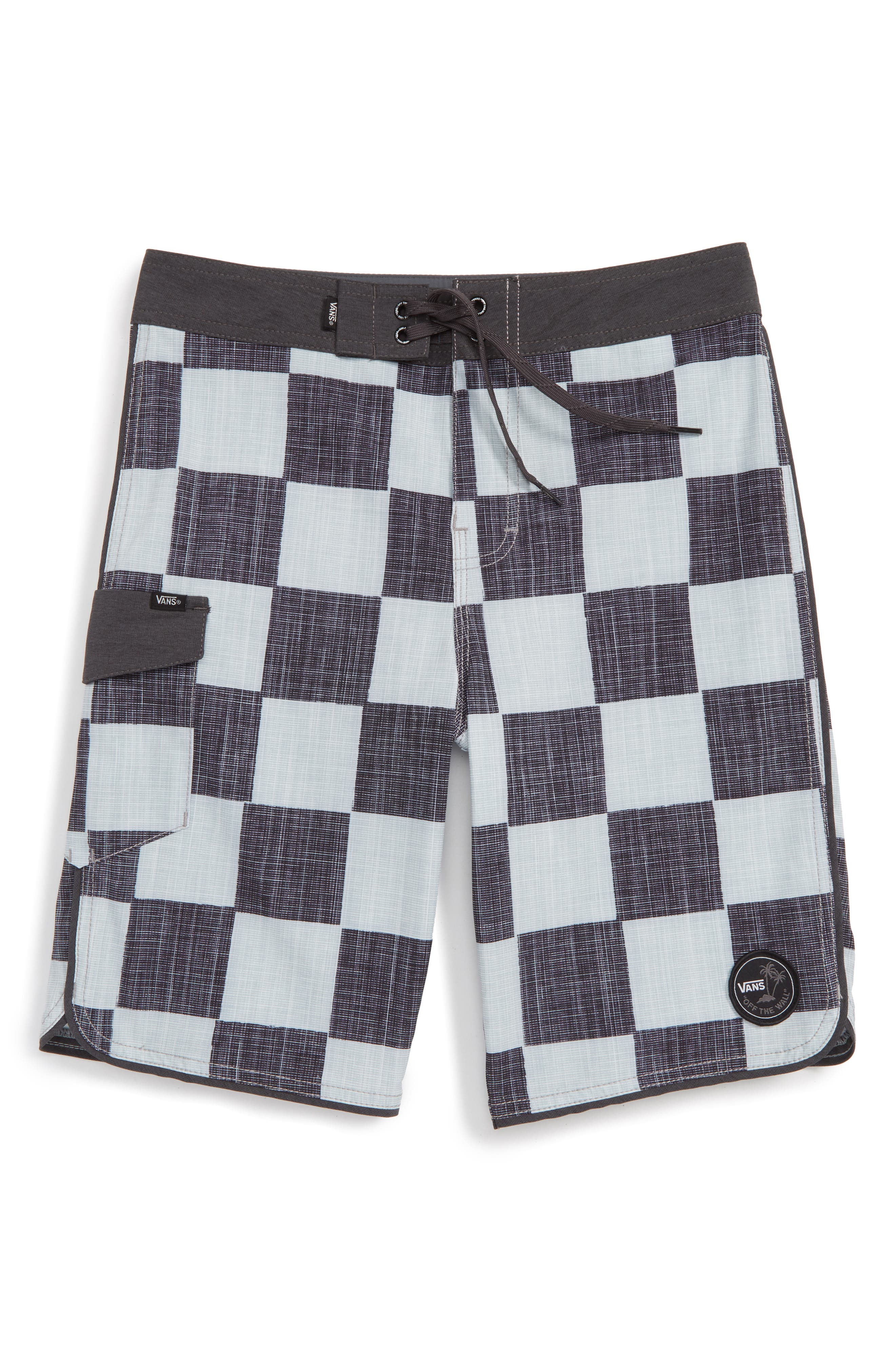 Vans 'Mixed Scallop' Board Shorts (Big Boys)