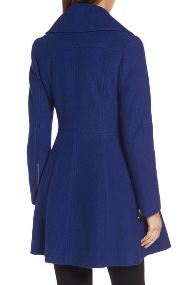 GUESS Envelope Collar Double Breasted Coat (Regular & Petite ...