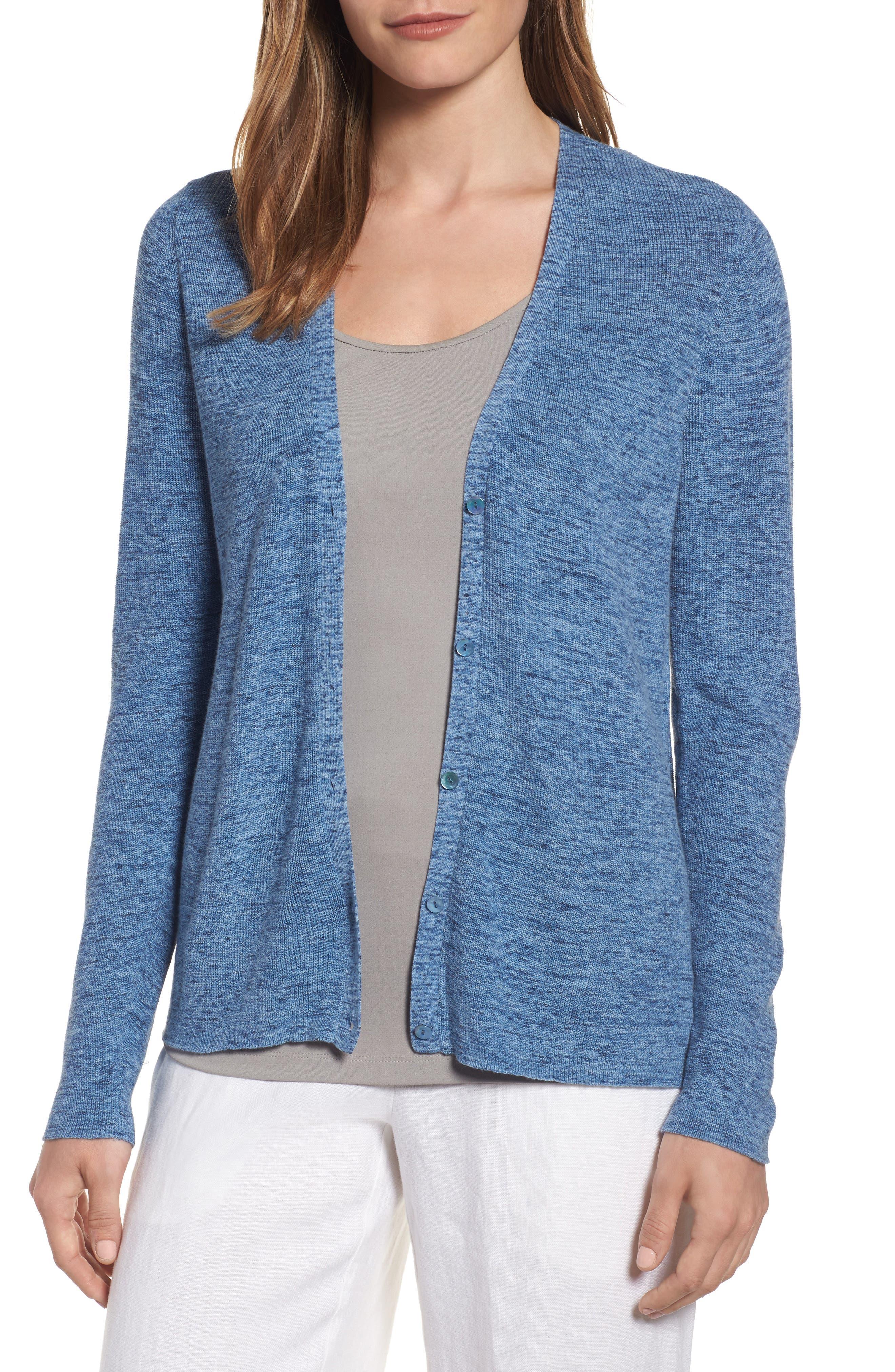Eileen Fisher V-Neck Organic Cotton Cardigan