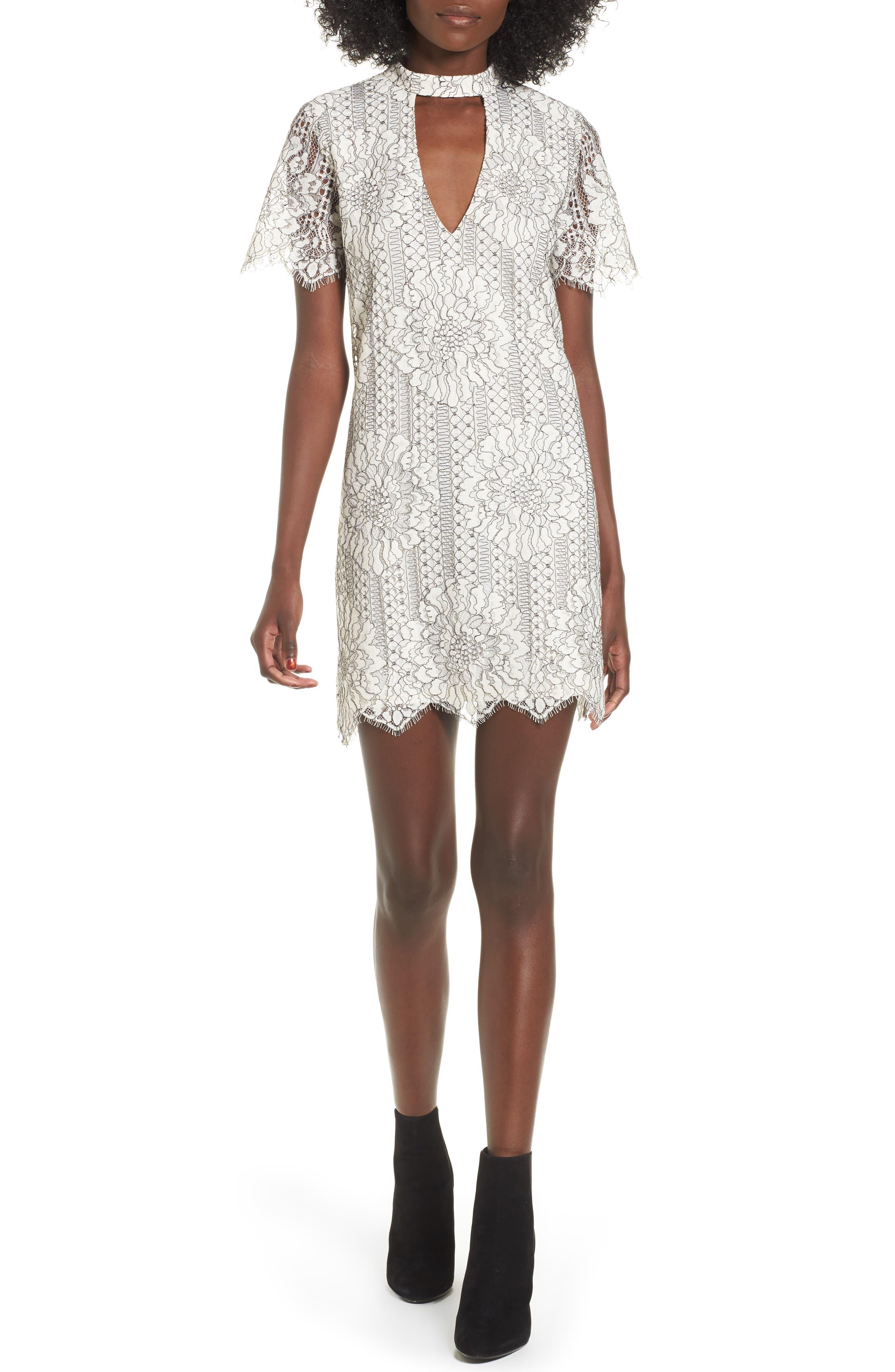 Main Image - Socialite Choker Lace Shift Dress