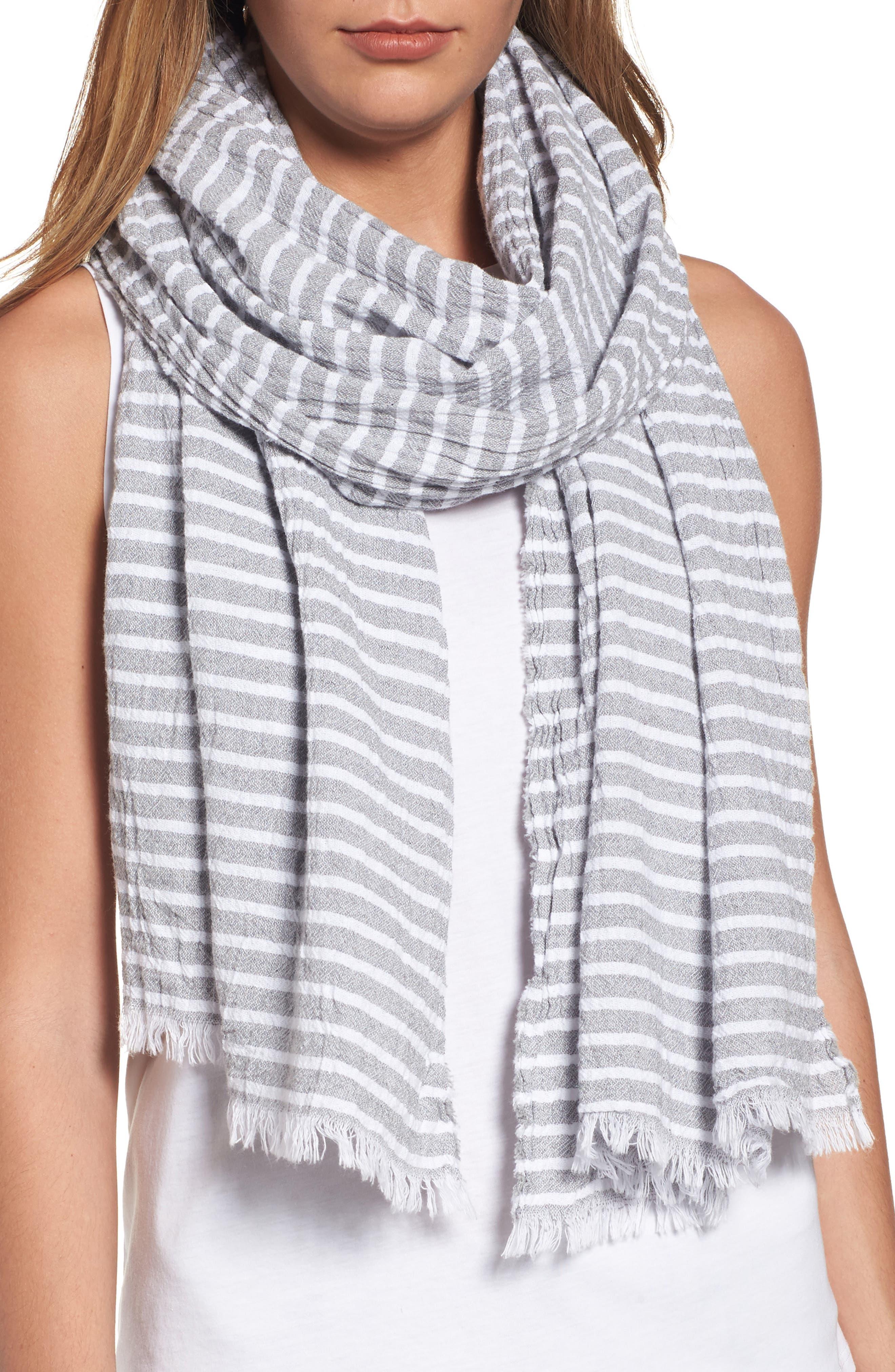 Eileen Fisher Stripe Organic Cotton Scarf