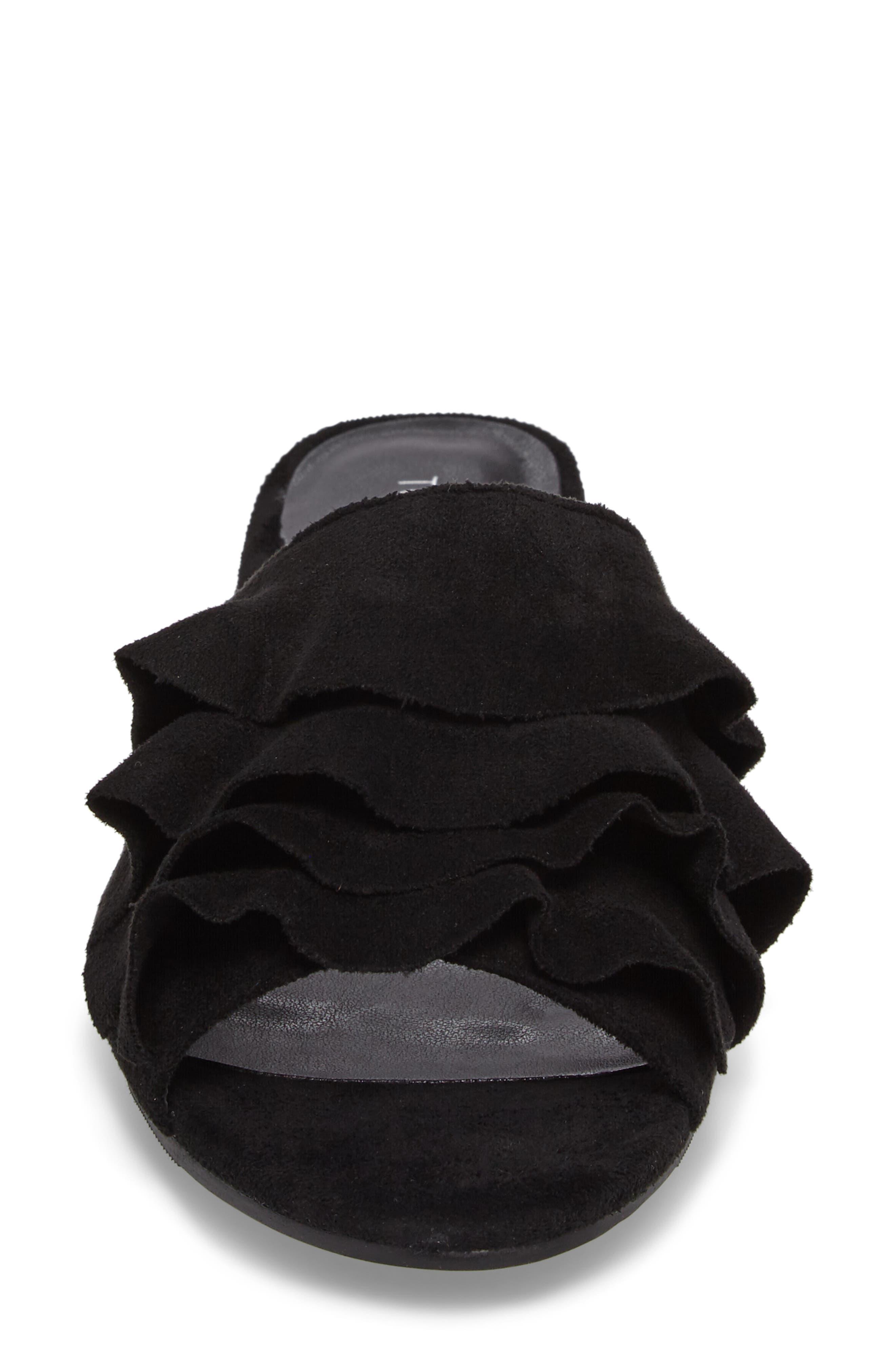 Alternate Image 4  - Topshop Darcy Ruffle Slide Sandal (Women)